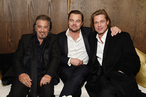 Al Pacino, Leonardo DiCaprio and Brad Pitt attend 2020 Netflix SAG After-Party at Sunset Tower in Los Angeles, California, on January 19, 2020.