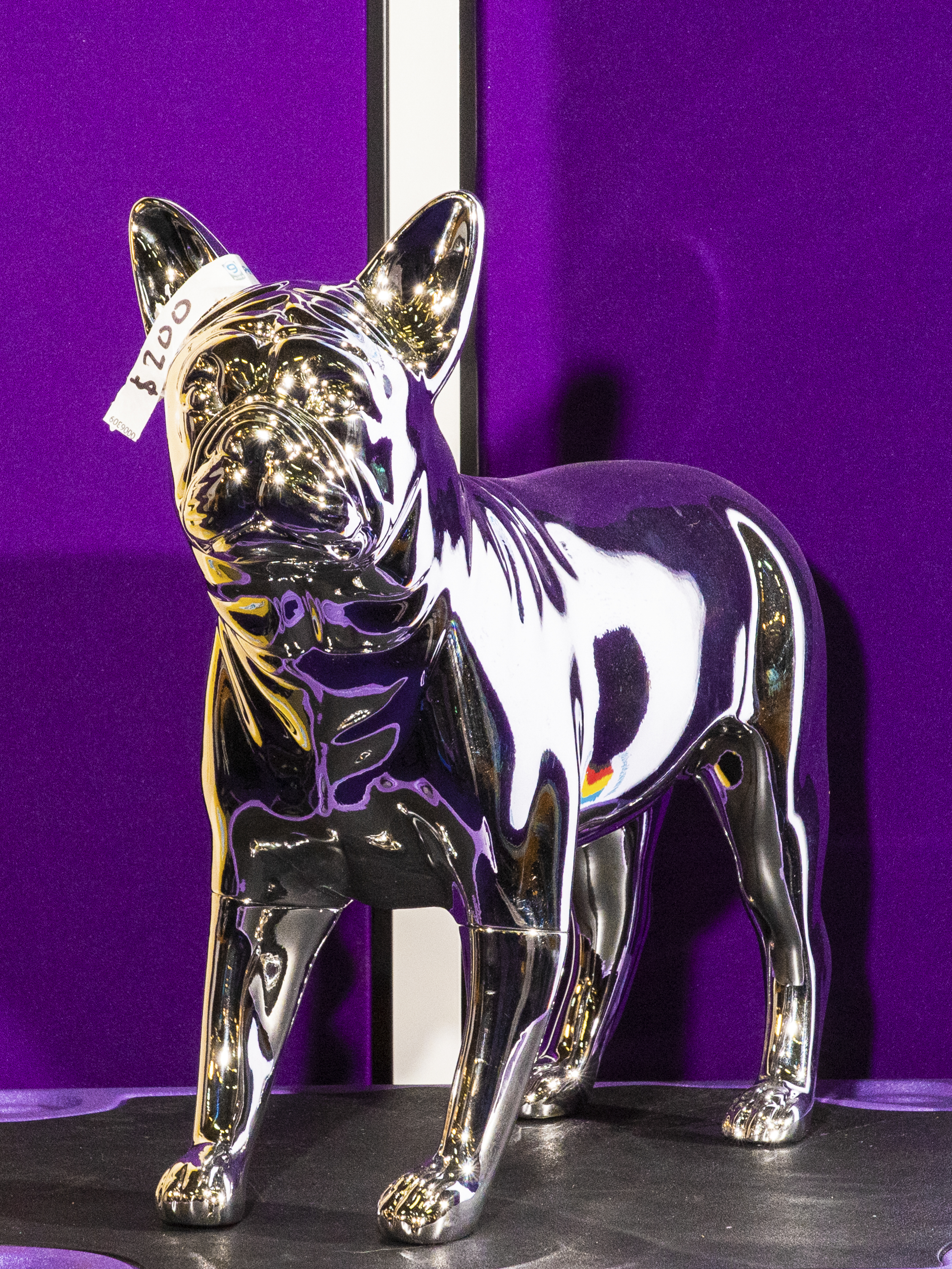 A sculpture for sale at the Westminster Dog Show, New York City, on Feb 11, 2020.