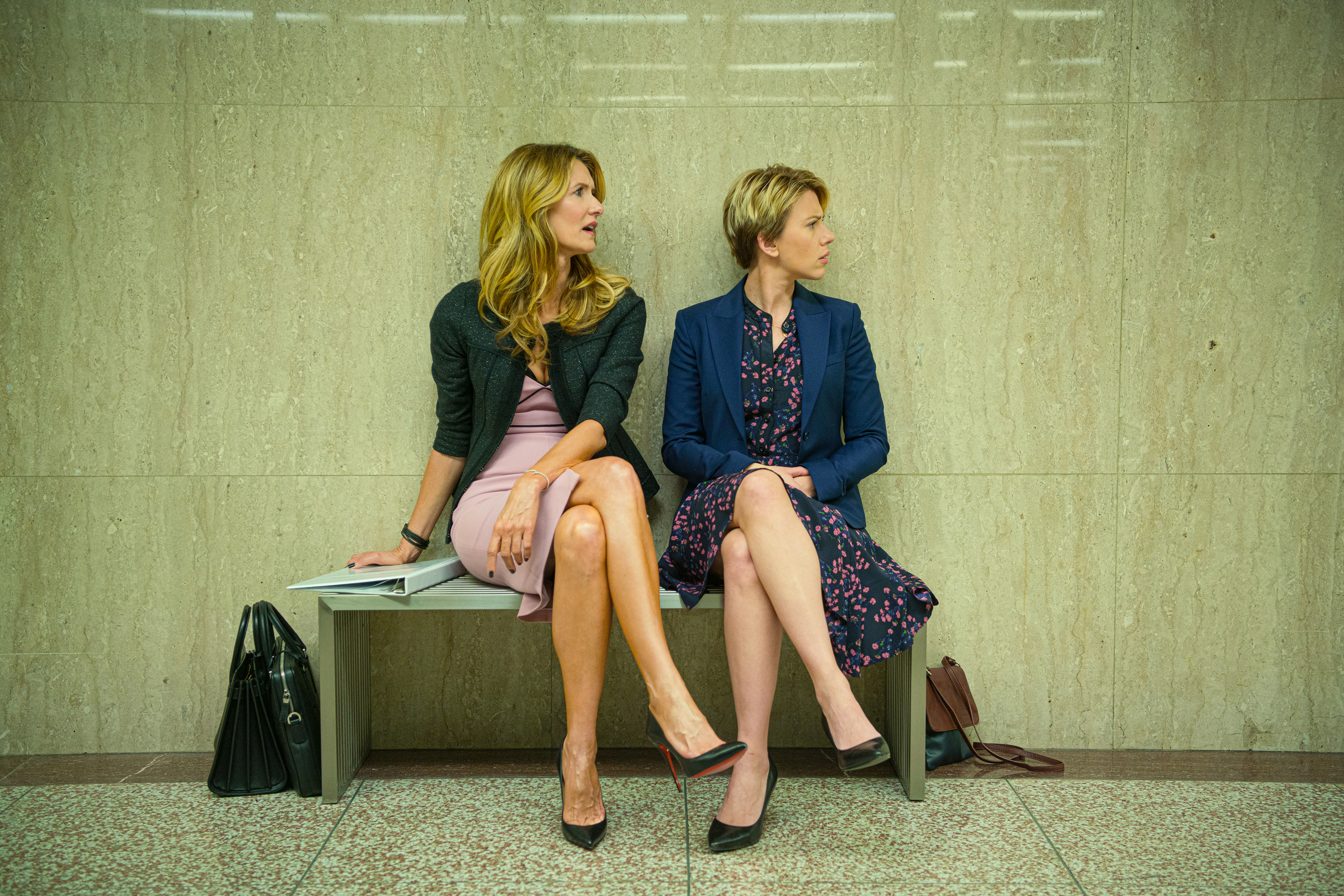 Laura Dern, left, with Scarlett Johansson in  Marriage Story.
