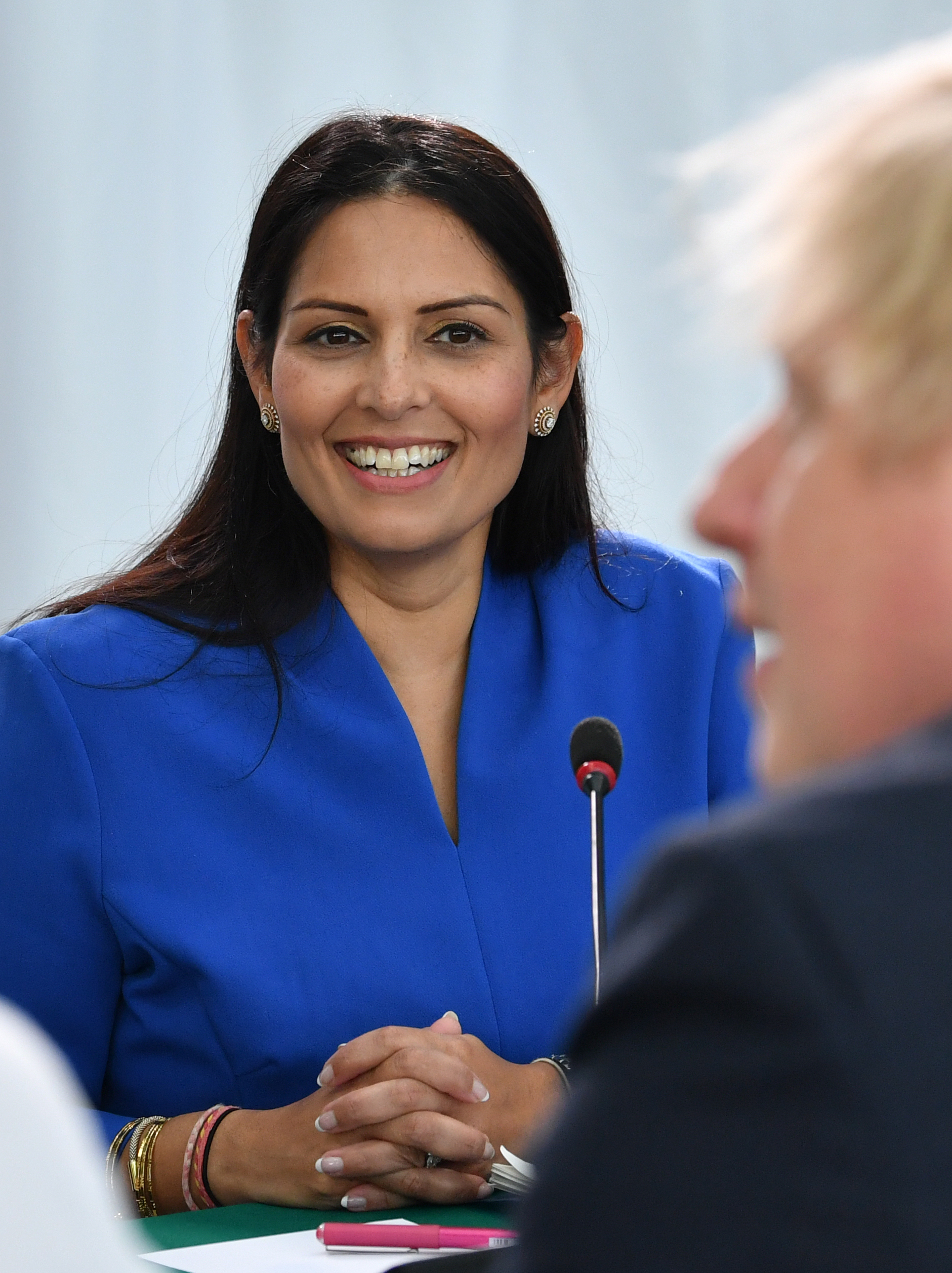 Home Secretary Priti Patel Prime Minister Boris Johnson chairs a cabinet meeting on Jan. 31, 2020 in Sunderland, United Kingdom.