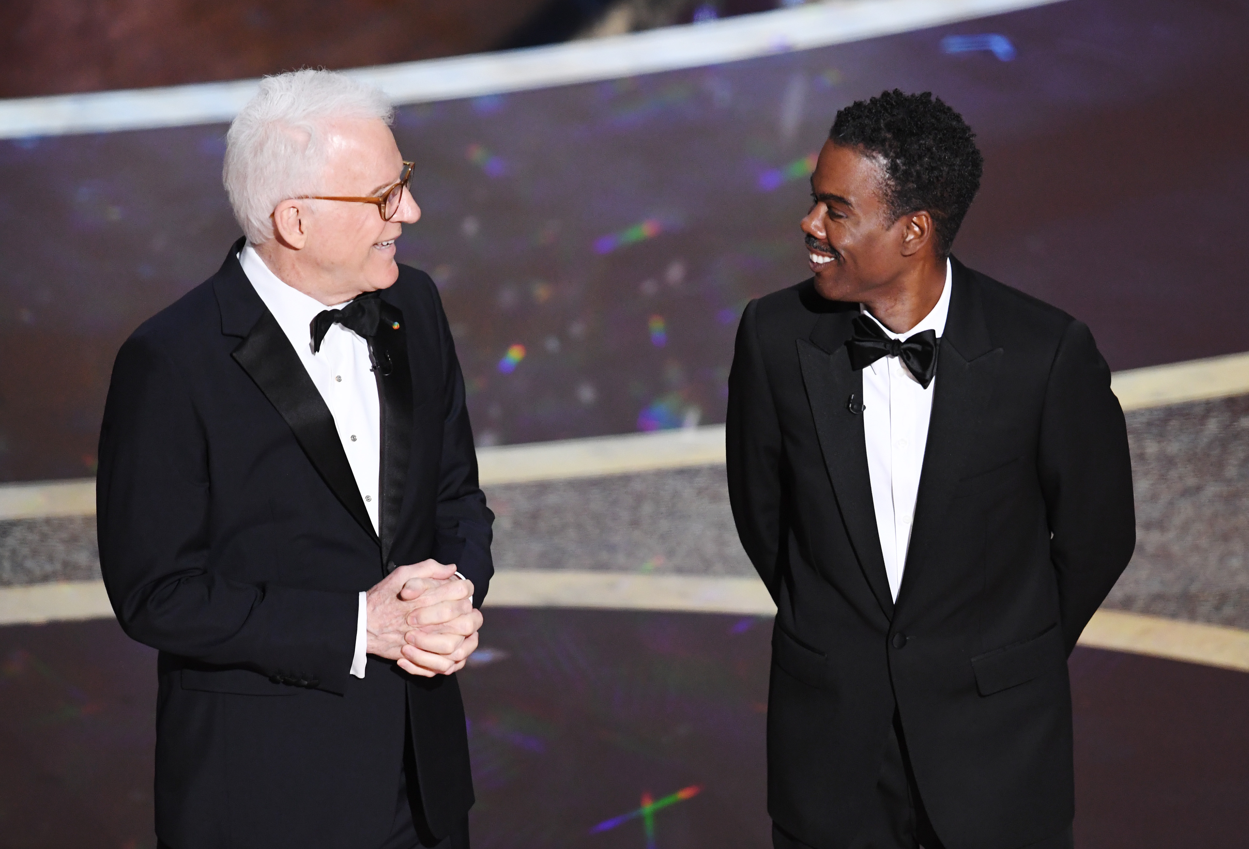 HOLLYWOOD, Steve Martin and Chris Rock onstage during the 92nd Annual Academy Awards on February 09, 2020 in Hollywood, California.