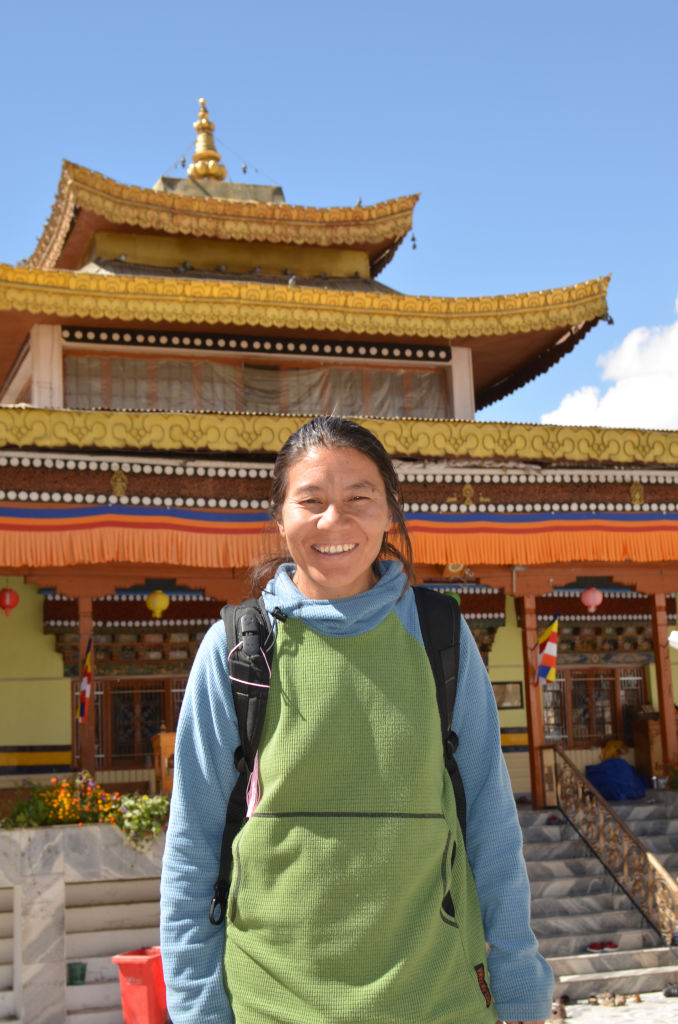 Thinlas Chorol, founder of  Ladakhi Women's Travel Organisation , can be seen in front of a monastery in Leh, India.