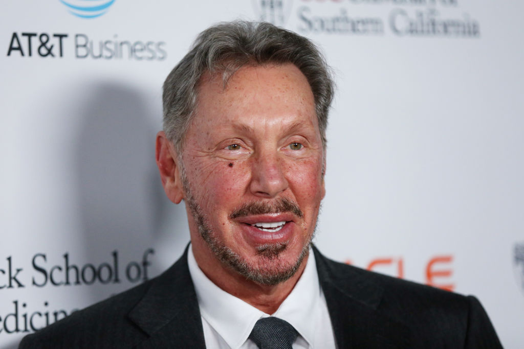Larry Ellison attends the Rebels With A Cause Gala 2019 at Lawrence J Ellison Institute for Transformative Medicine of USC on October 24, 2019 in Los Angeles, California.