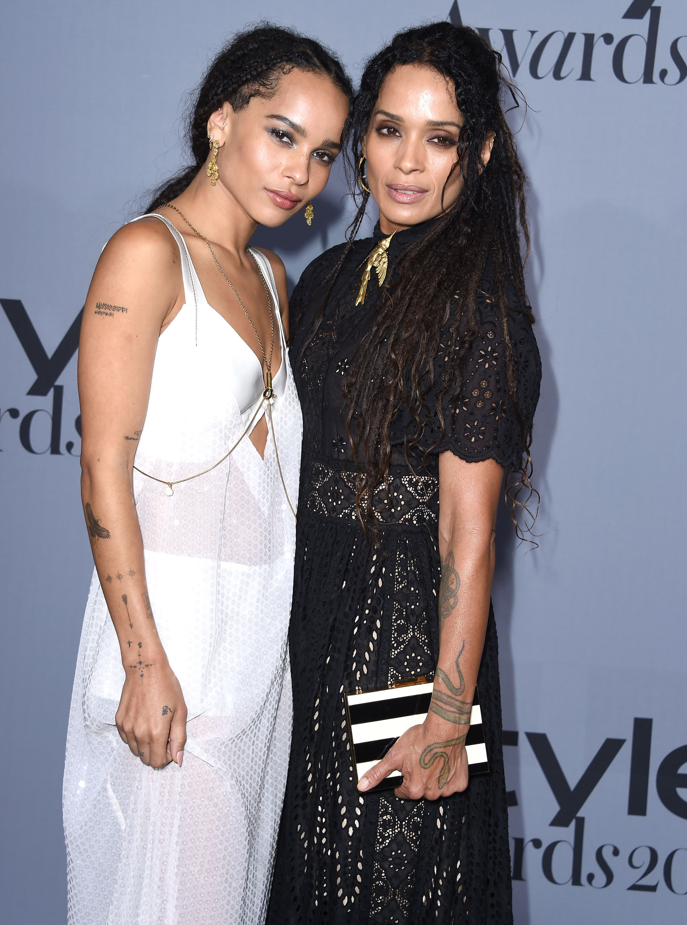 Zoe Kravitz and Lisa Bonet arrives at the InStyle Awards at Getty Center on October 26, 2015. (Photo by Steve Granitz/WireImage)