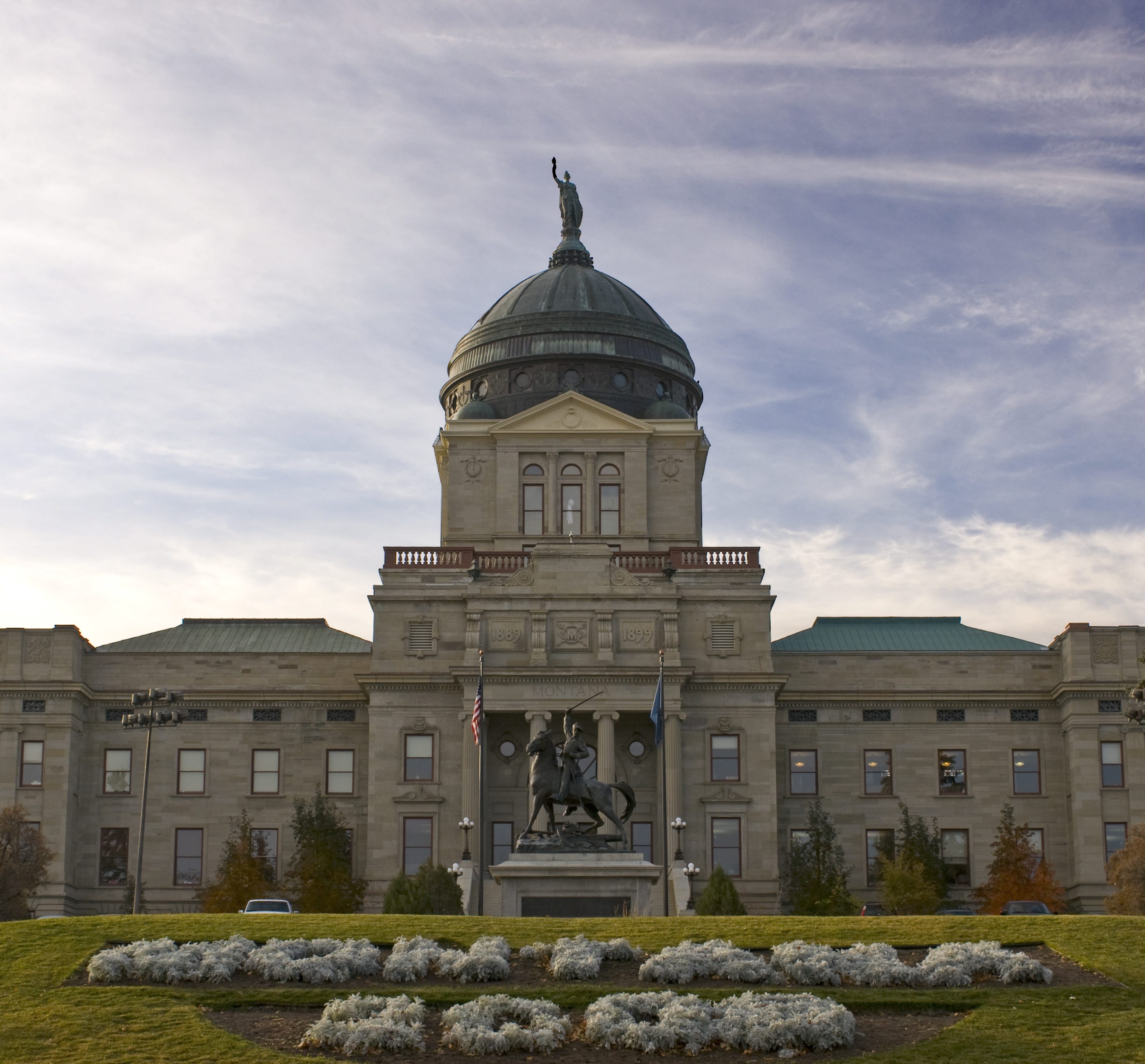 The Montana state capitol building located in Helena, Montana.
