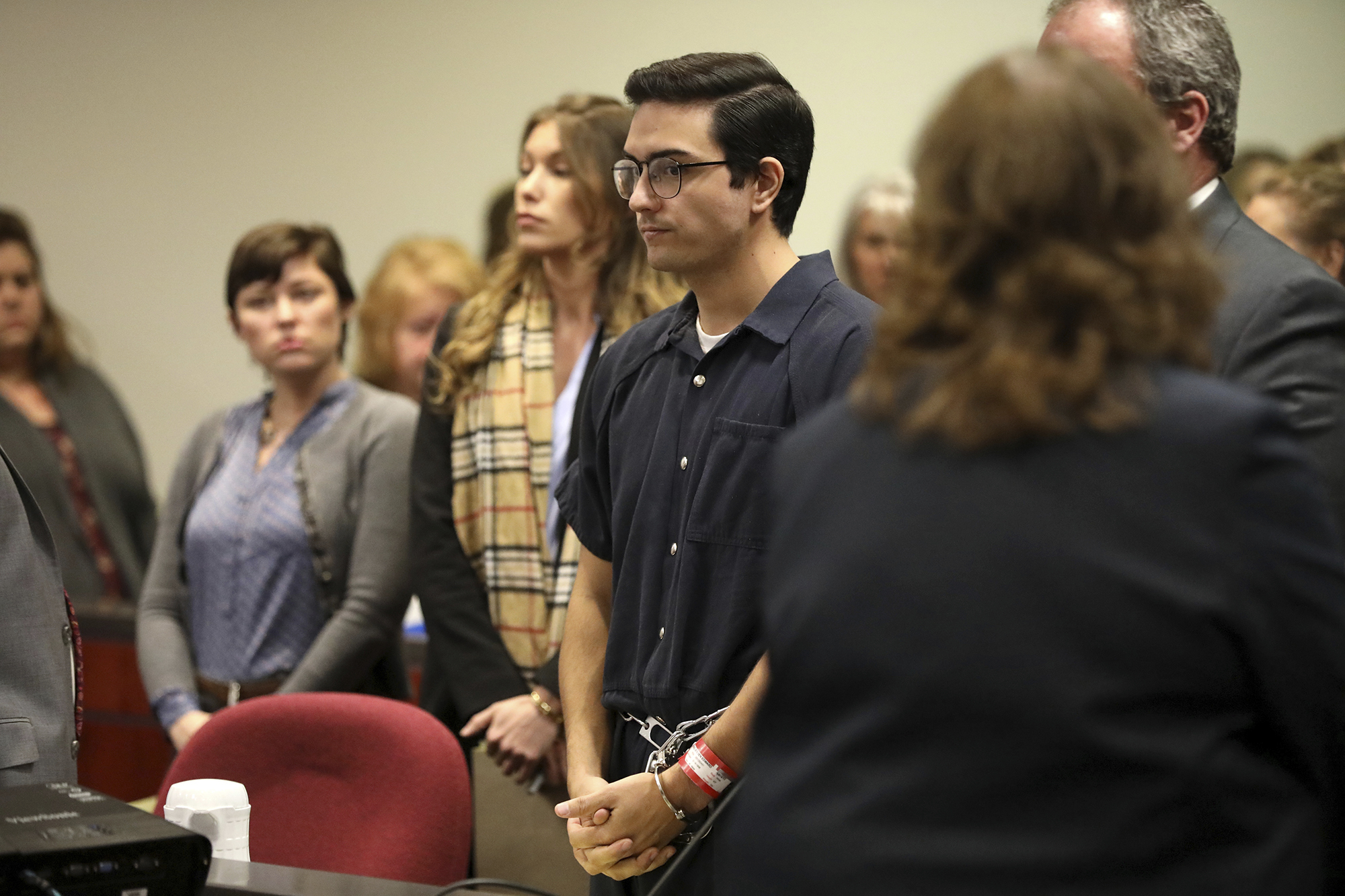 Steven Jones was sentenced to a six year prison term Tuesday, Feb. 11, 2020, in Flagstaff, Ariz., after taking a plea deal on one count of manslaughter and three counts of aggravated assault stemming from an October 2015 shooting on the Northern Arizona University campus which left one student dead and three others wounded.