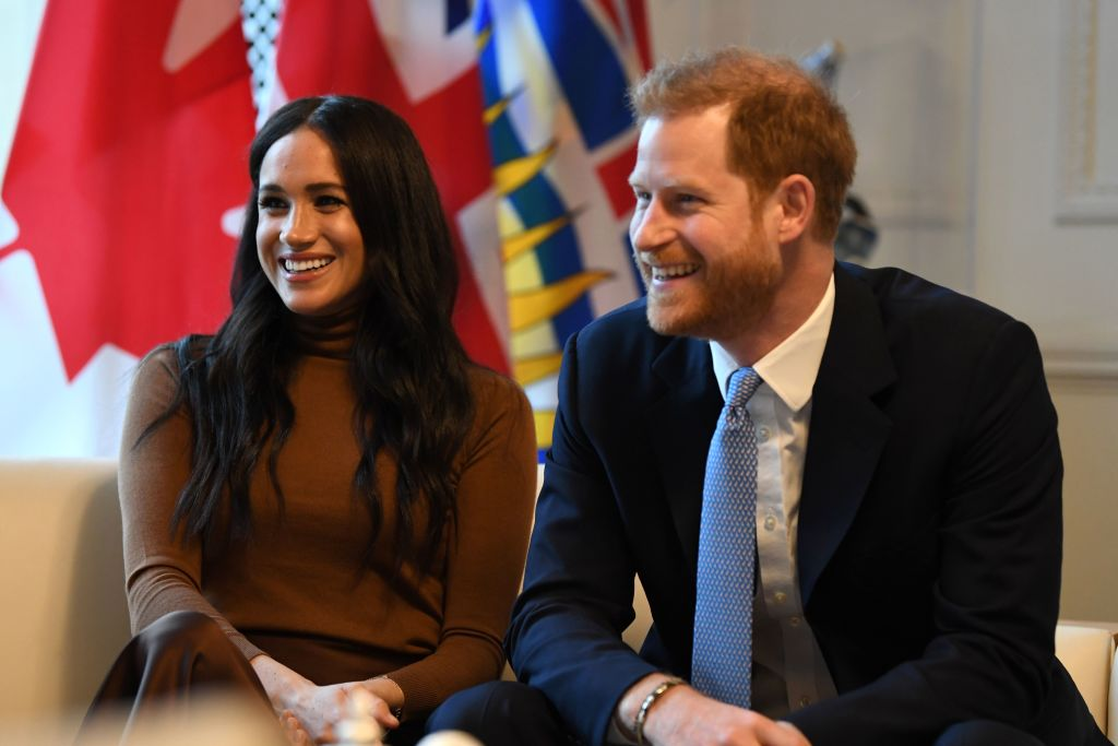 Britain's Prince Harry, Duke of Sussex and Meghan, Duchess of Sussex pictured during a visit to Canada House in London on Jan. 7, 2020.
