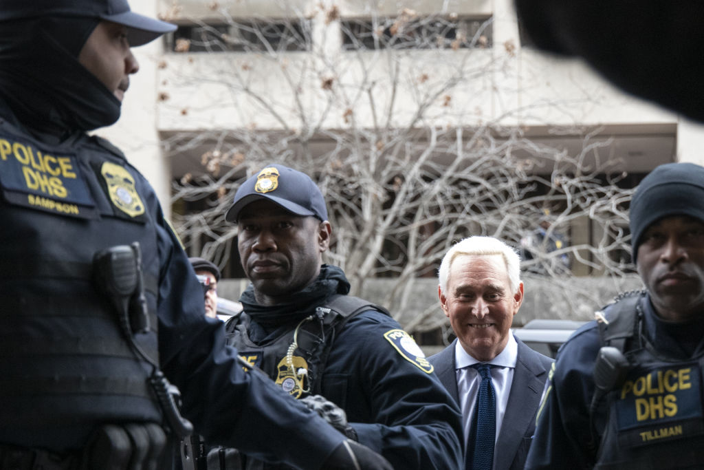 Roger Stone, former adviser to Donald Trump's presidential campaign, center, arrives at federal court in Washington, D.C., U.S., on Tuesday, Jan. 29, 2019. Monday, January 20, 2020, marks the third anniversary of U.S. President Donald Trump's inauguration. Our editors select the best archive images looking back over Trumps term in office.