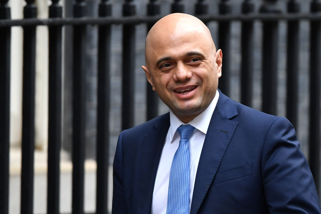Chancellor of the Exchequer Sajid Javid arrives in Westminster on February 13, 2020 in London, England.