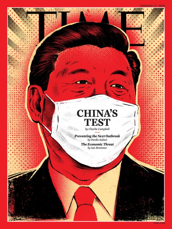 China Virus Xi Jinping Time Magazine Cover