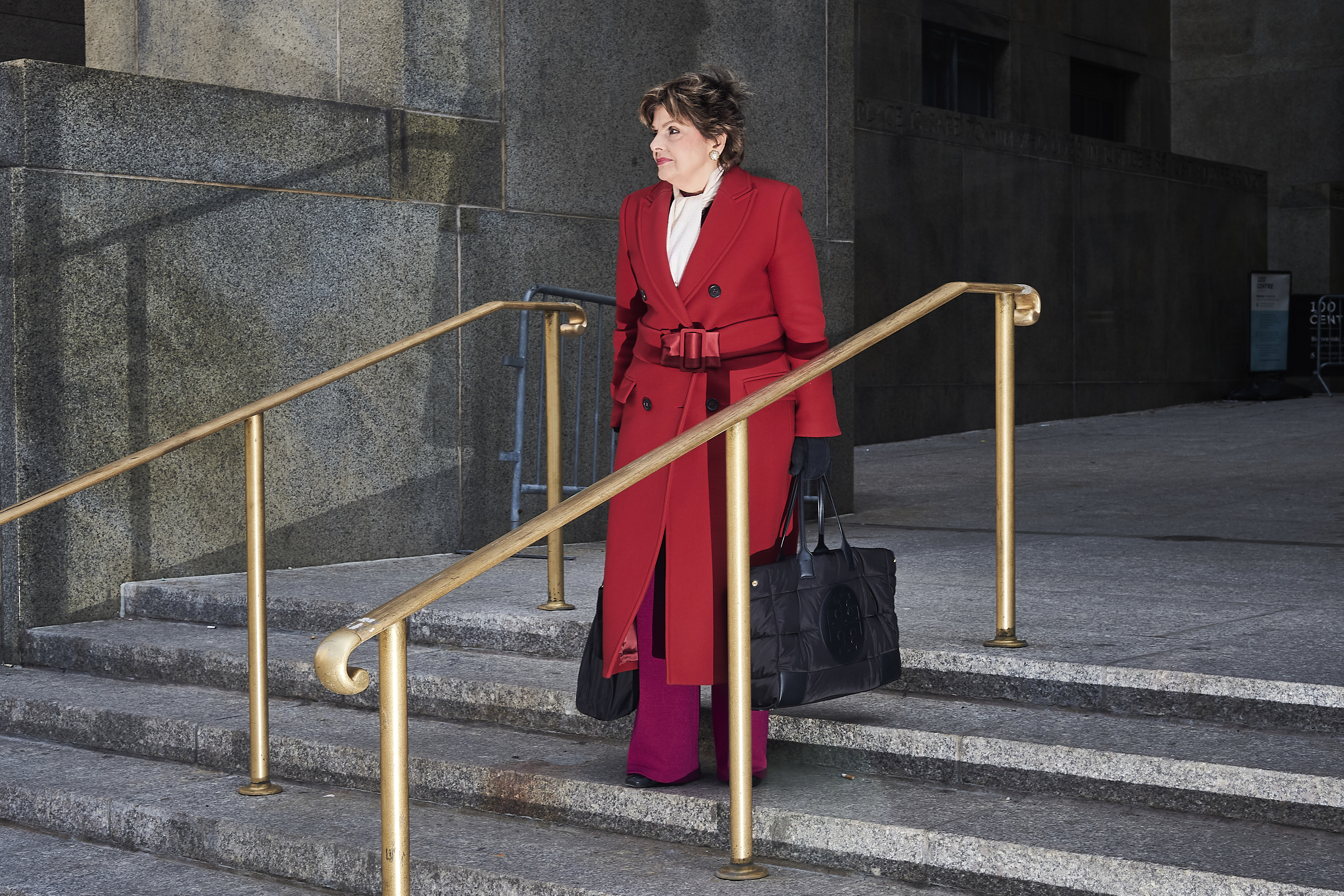 U.S. women's-rights attorney Gloria Allred, who represents actor Annabella Sciorra, outside New York City Criminal Court on Jan. 8.