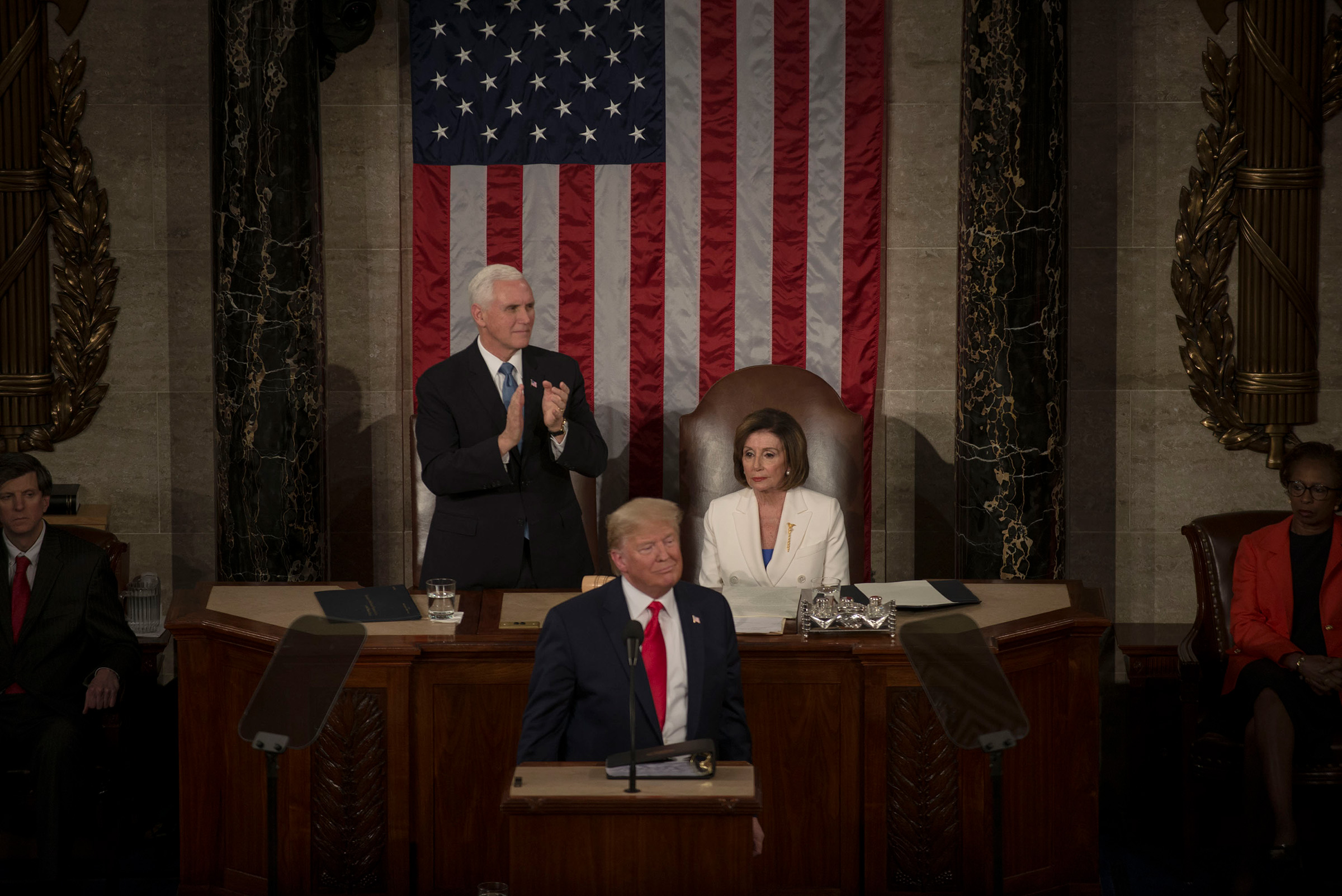 President Donald Trump delivers his State of the Union address on the House floor of the Capitol in Washington, D.C., Feb. 4, 2020.