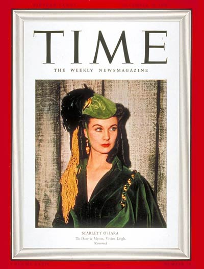 Vivien Leigh on the Dec. 25, 1939, cover of TIME.