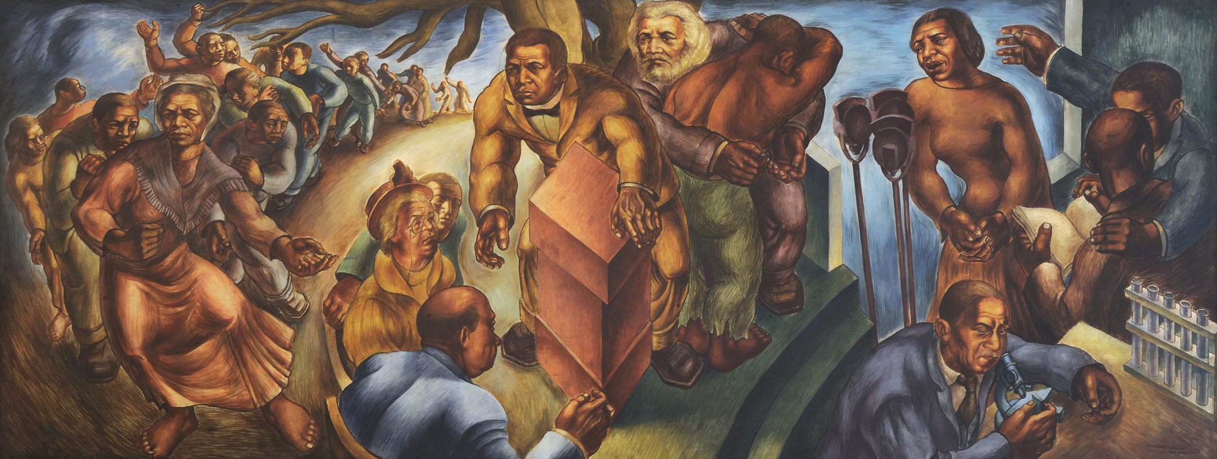 Charles White, Progress of the American Negro: Five Great American Negroes, 1939–40