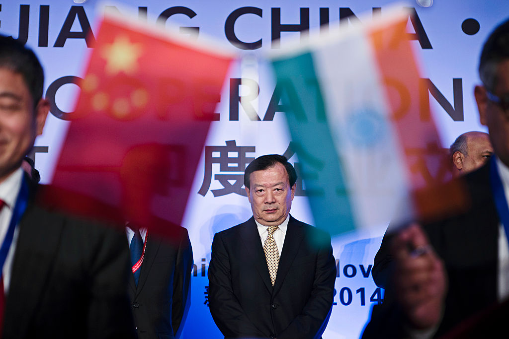 Xia Baolong, Chinese Communist Party secretary of Zhejiang province, stands during a signing ceremony at the India-China Business Cooperation Conference in New Delhi, India, on Wednesday, Nov. 26, 2014. Billionaire Jack Ma, chairman of Alibaba Group Holding Ltd., said he is keen to invest more in India and will work with Indian technology entrepreneurs.