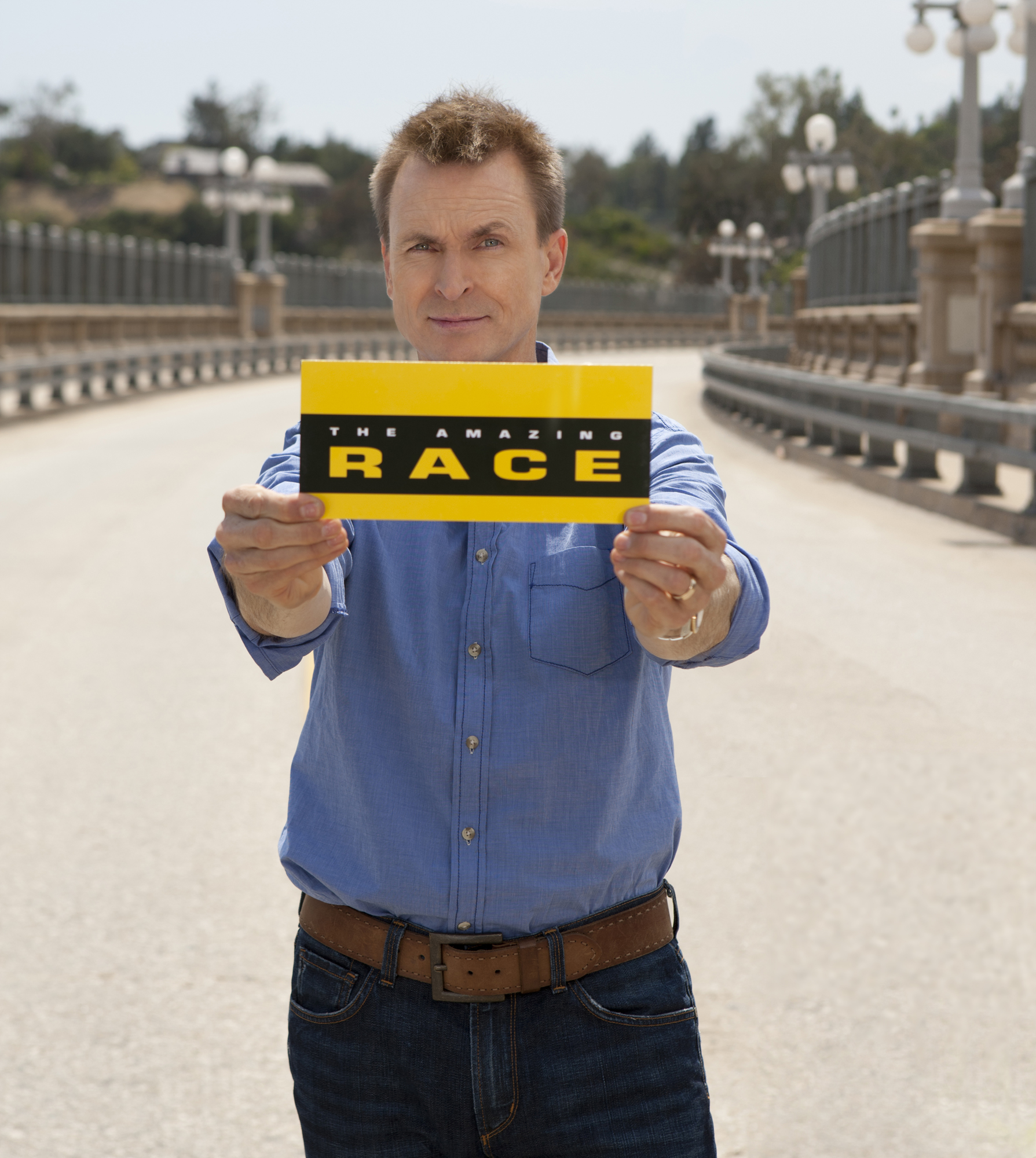 Phil Keoghan, host of the CBS reality show  THE AMAZING RACE.