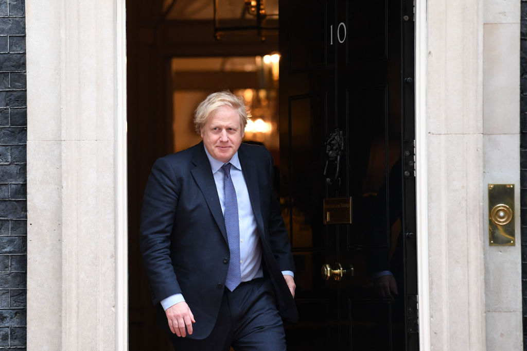 British Prime Minister Boris Johnson at Downing Street on Feb. 4, 2020 in London, England.