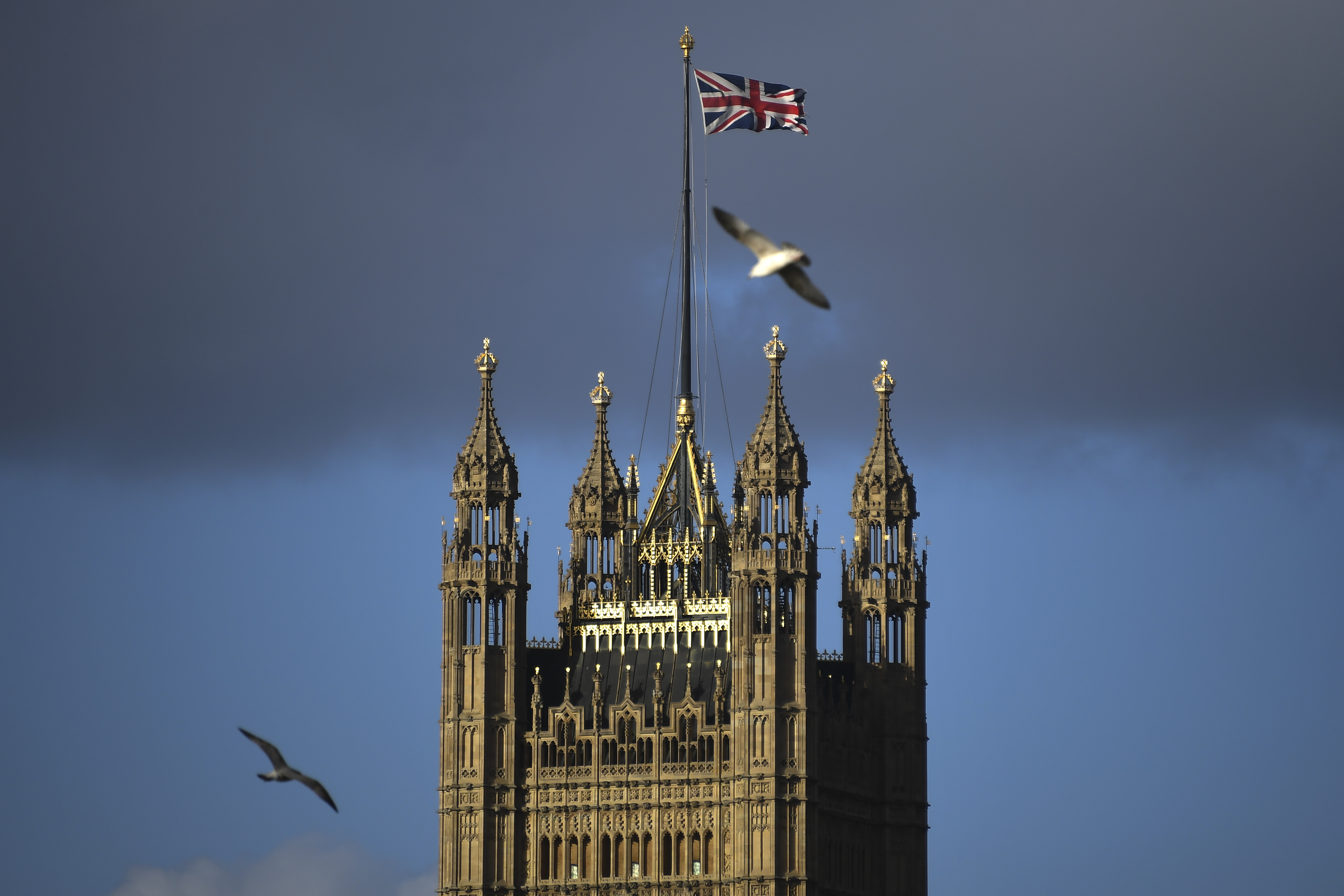 The Victoria Tower stands in Westminster, in London, on Feb. 1, 2020.