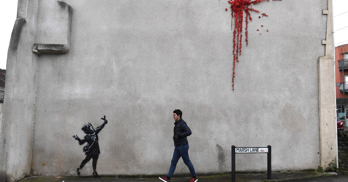 There's Lots to Love In New Banksy Art That Popped Up on Valentine's Day