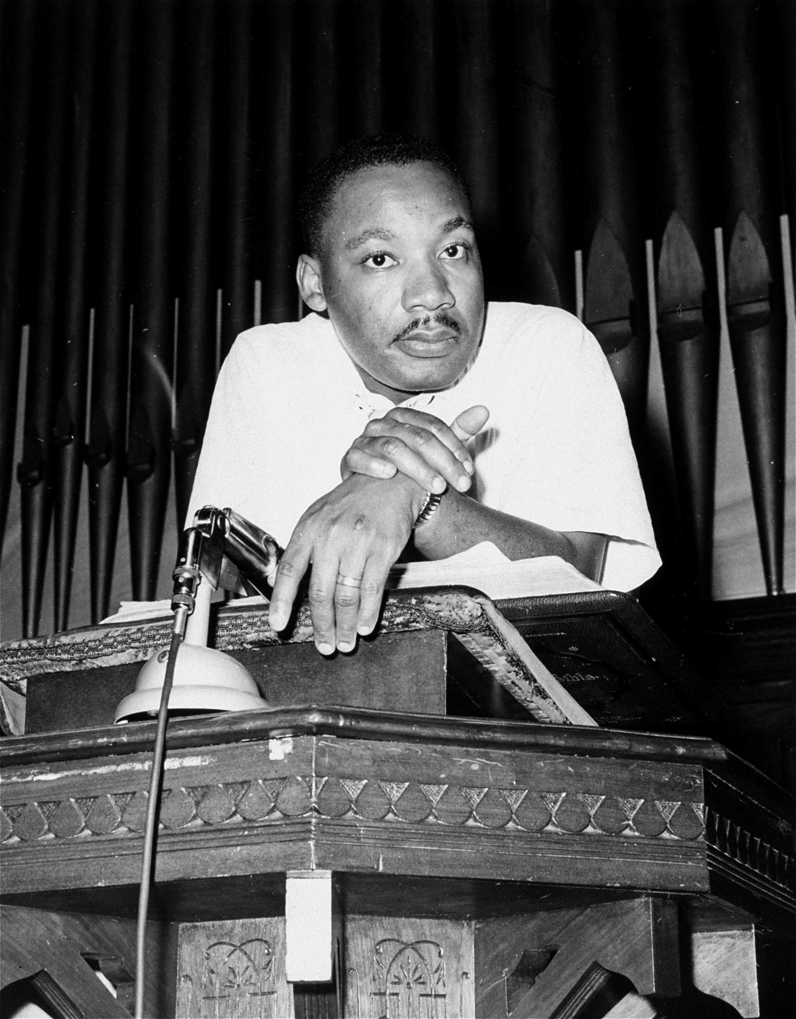 Martin Luther King Jr. in Montgomery, Alabama, May 21, 1961.