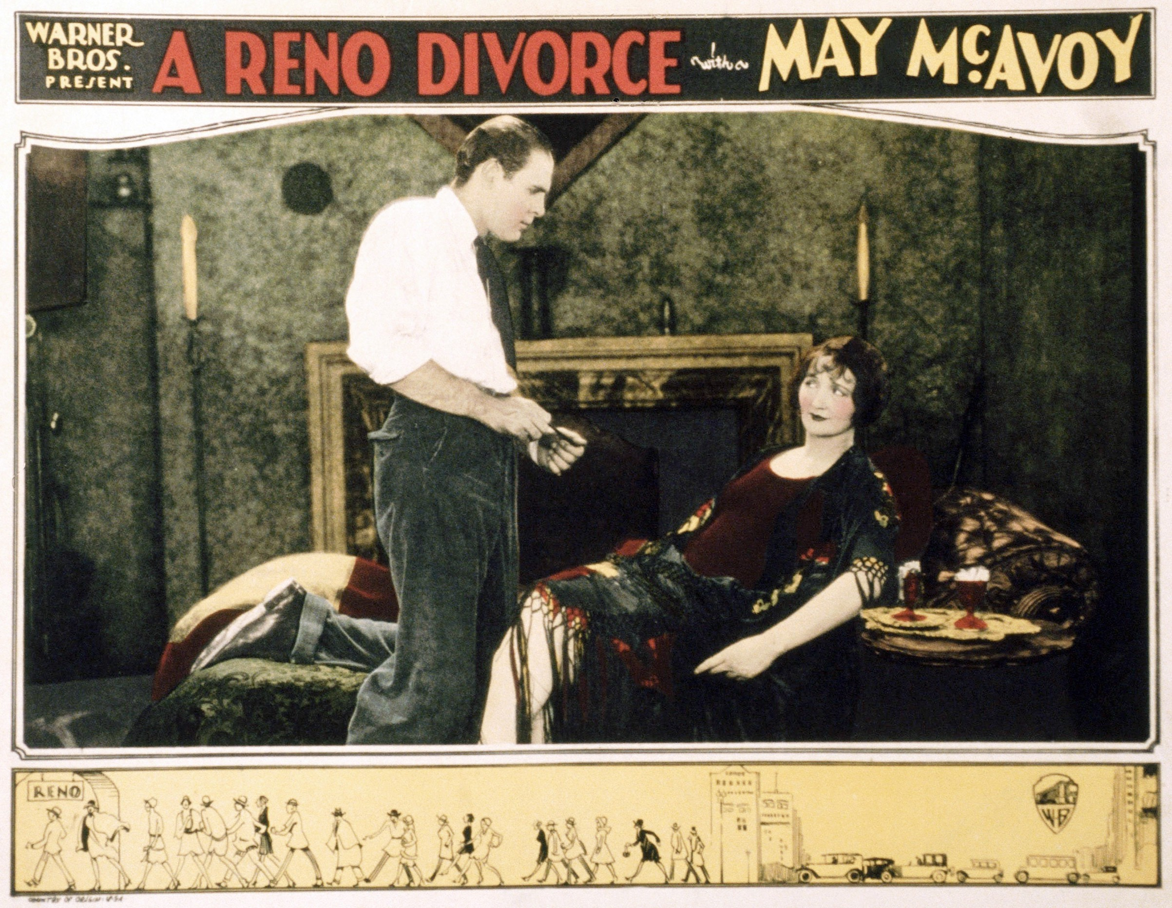 Ralph Graves and Hedda Hopper in 'A Reno Divorce,' 1927
