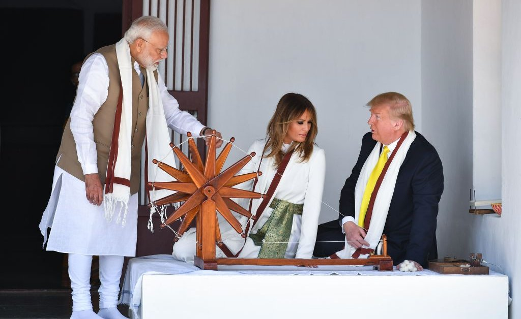 India Says 'Namaste Trump' as President Arrives for Whirlwind Visit