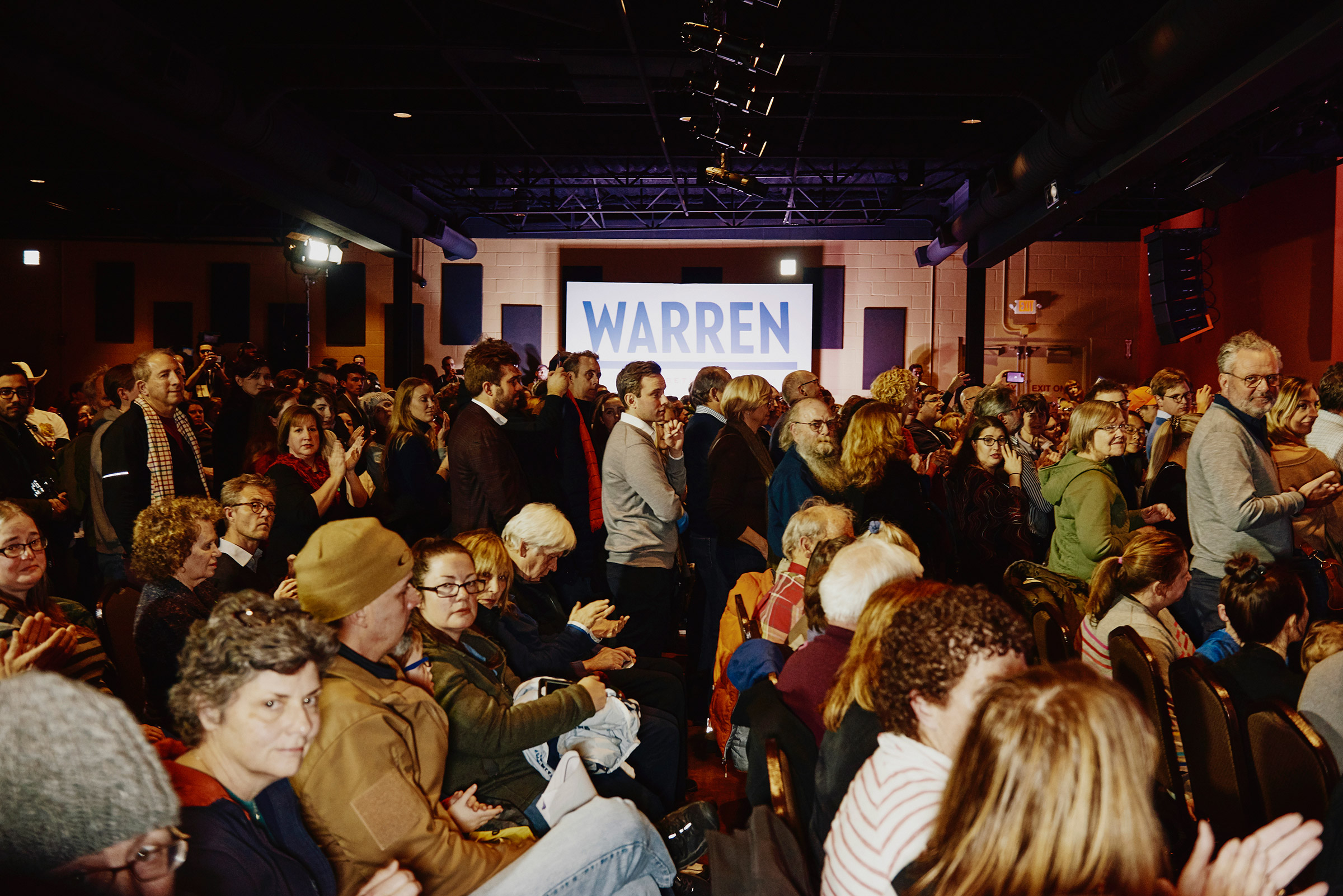 Guests at Elizabeth Warren's Derry GOTV Event at the Tupelo Music Hall in Derry, NH on Feb. 6, 2020.