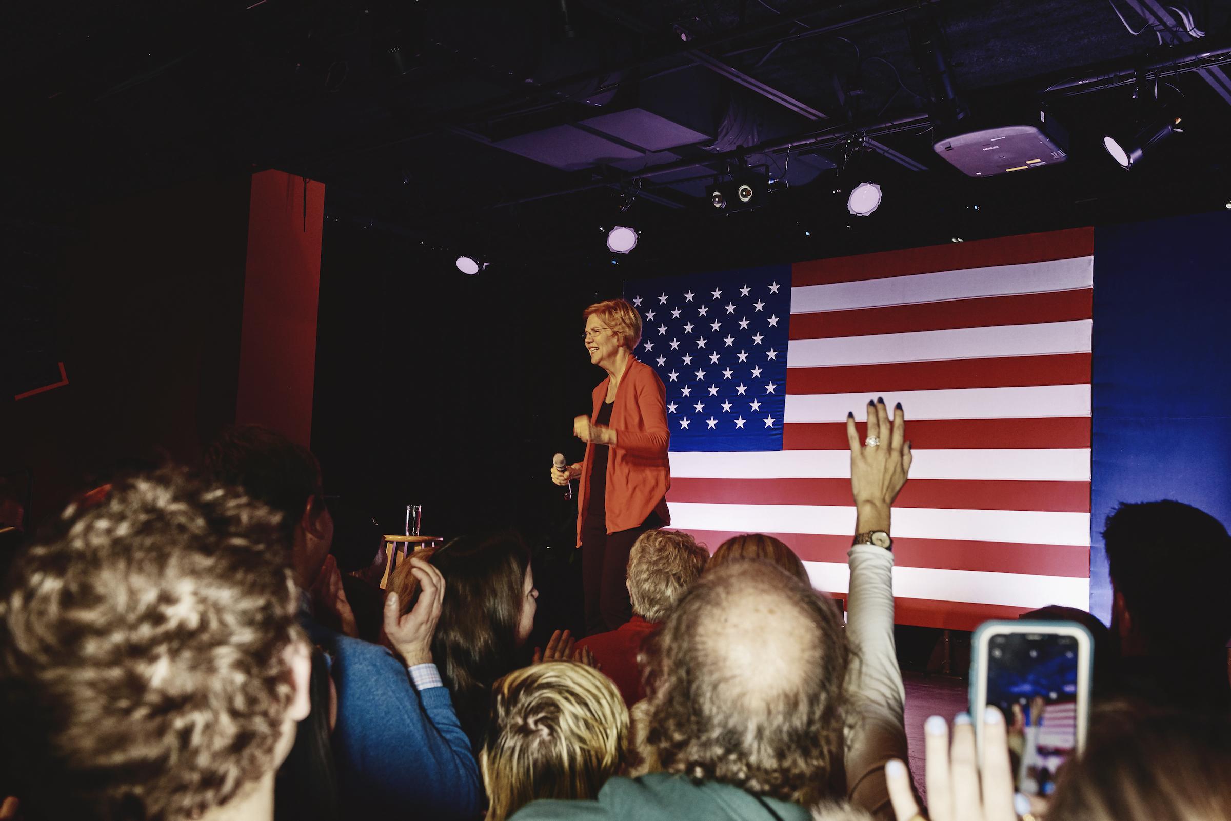 Elizabeth Warren speaks at her Derry GOTV Event in Derry, N.H. on Feb. 6, 2020.