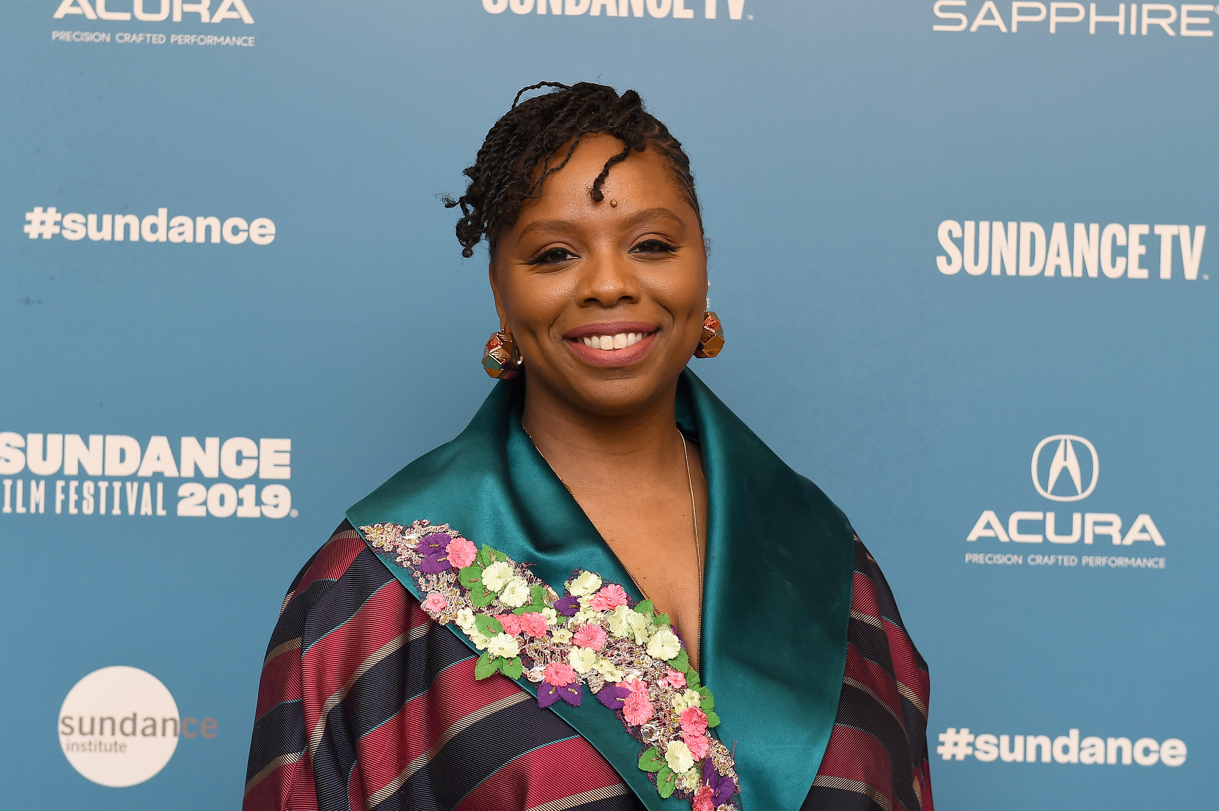 Patrisse Cullors at the 2019 Sundance Film Festival in Park City, Utah, Jan. 28, 2019.