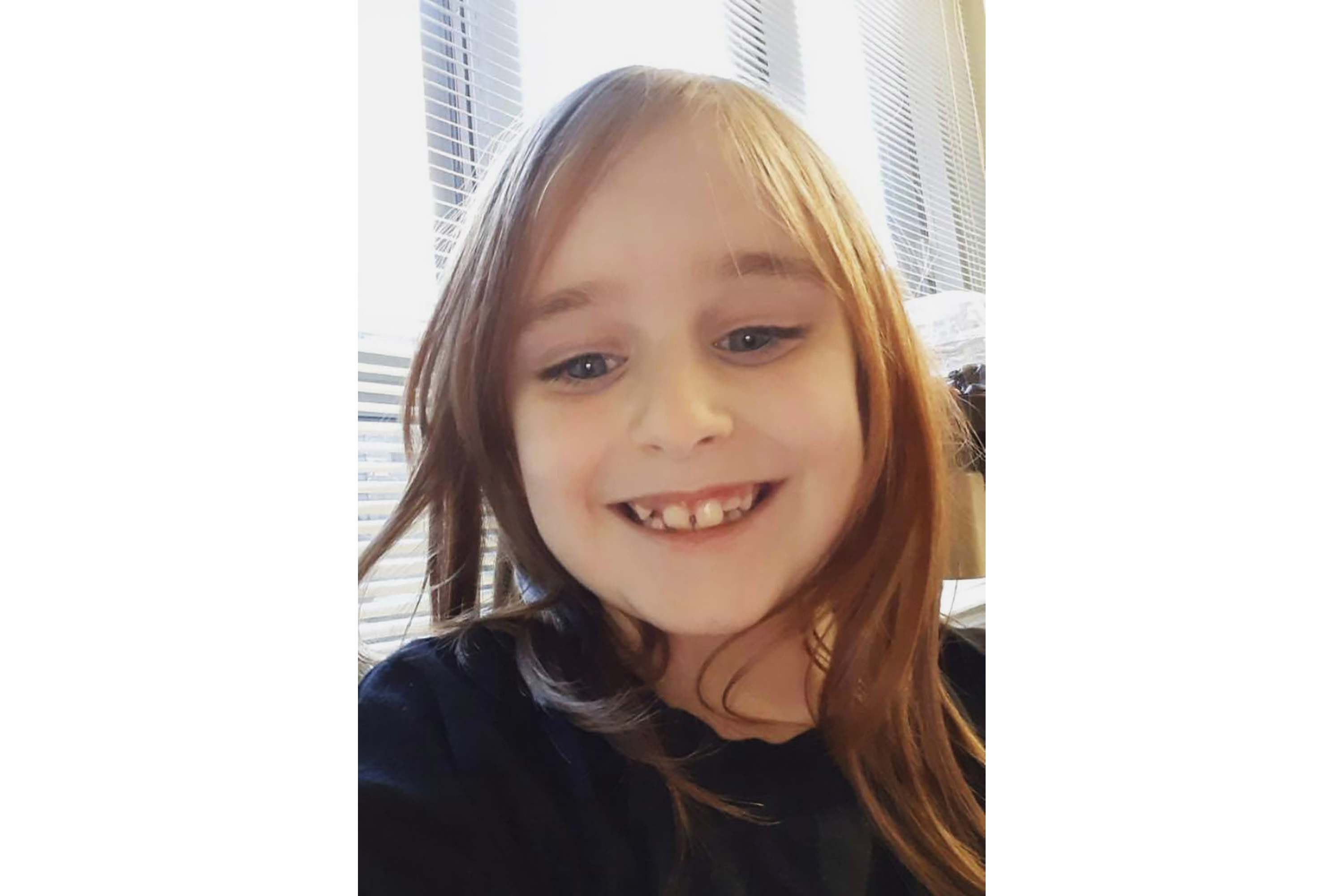 This undated photo provided by the Cayce Department of Public Safety shows Faye Marie Swetlik, who has been missing since shortly after getting off her school bus near her South Carolina home on Feb. 10, 2020.