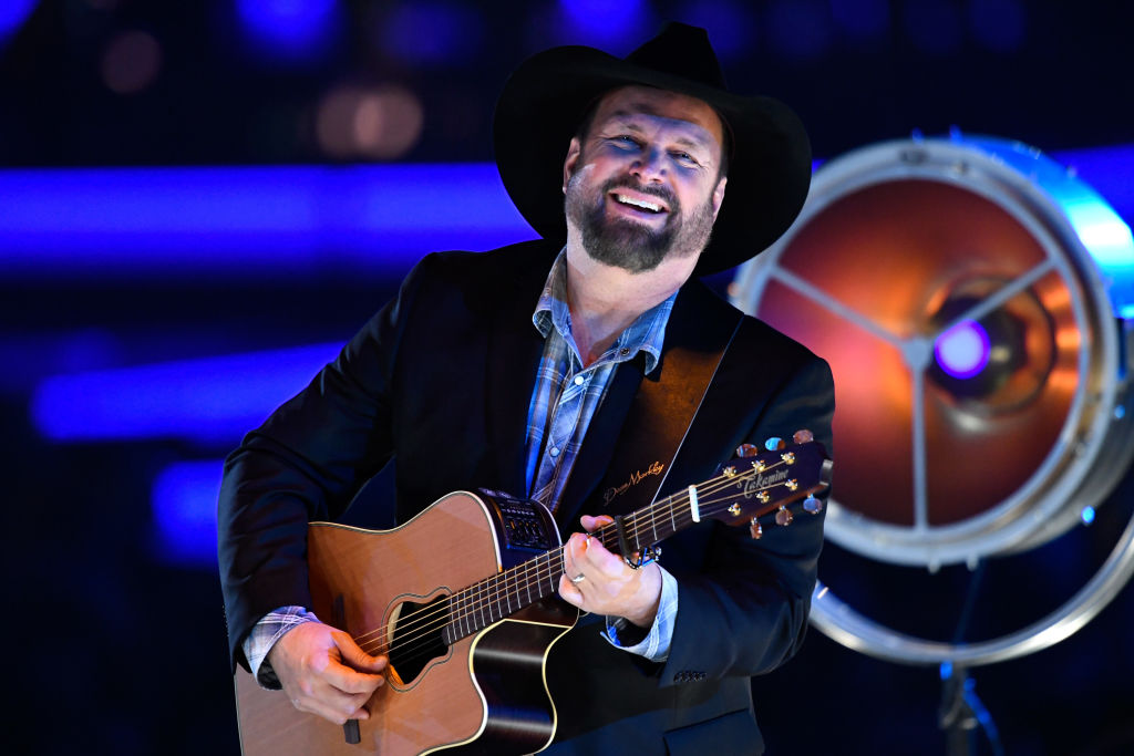 Garth Brooks performs onstage during MusiCares Person of the Year honoring Dolly Parton at Los Angeles Convention Center on February 8, 2019 in Los Angeles, California.
