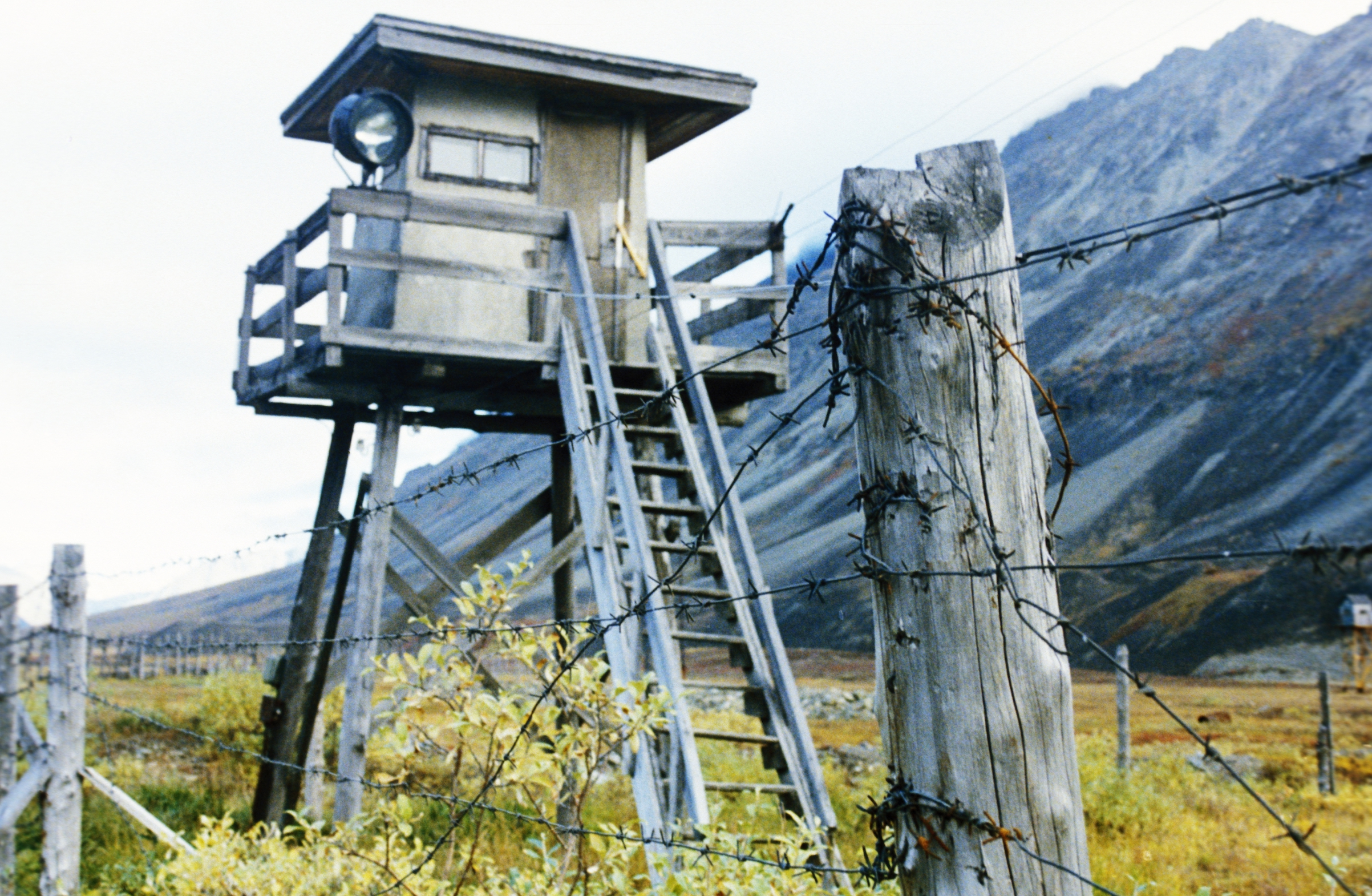 The remains of a Stalin-era gulag in Chukotka, far eastern Russia.
