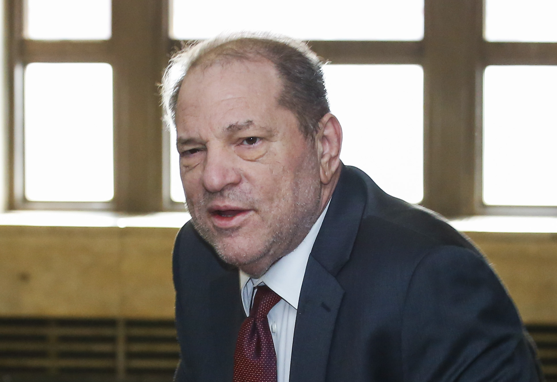 Harvey Weinstein arrives at court on Feb. 20, 2020 in New York City.