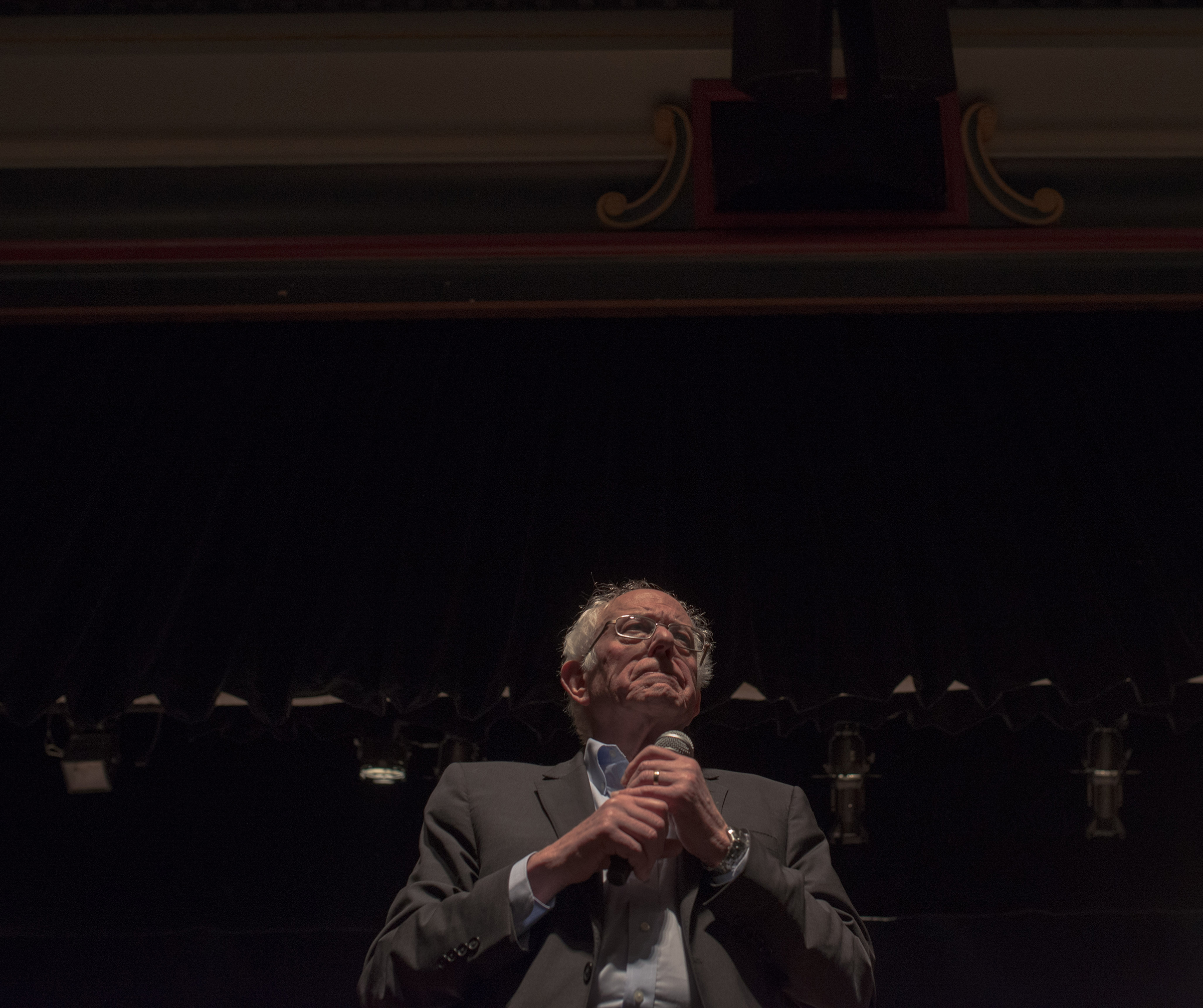 Sanders addresses supporters at a rally in Ames on Jan. 26