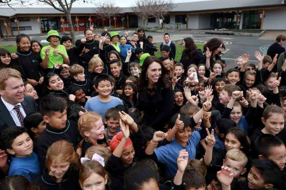 """I just still feel a closeness to the people I'm meant to be representing,"" says Ardern, visiting a school in July"