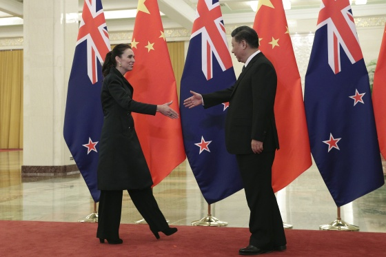 """China sees in New Zealand a sincere friend and cooperation partner,"" Chinese President Xi Jinping said in April"