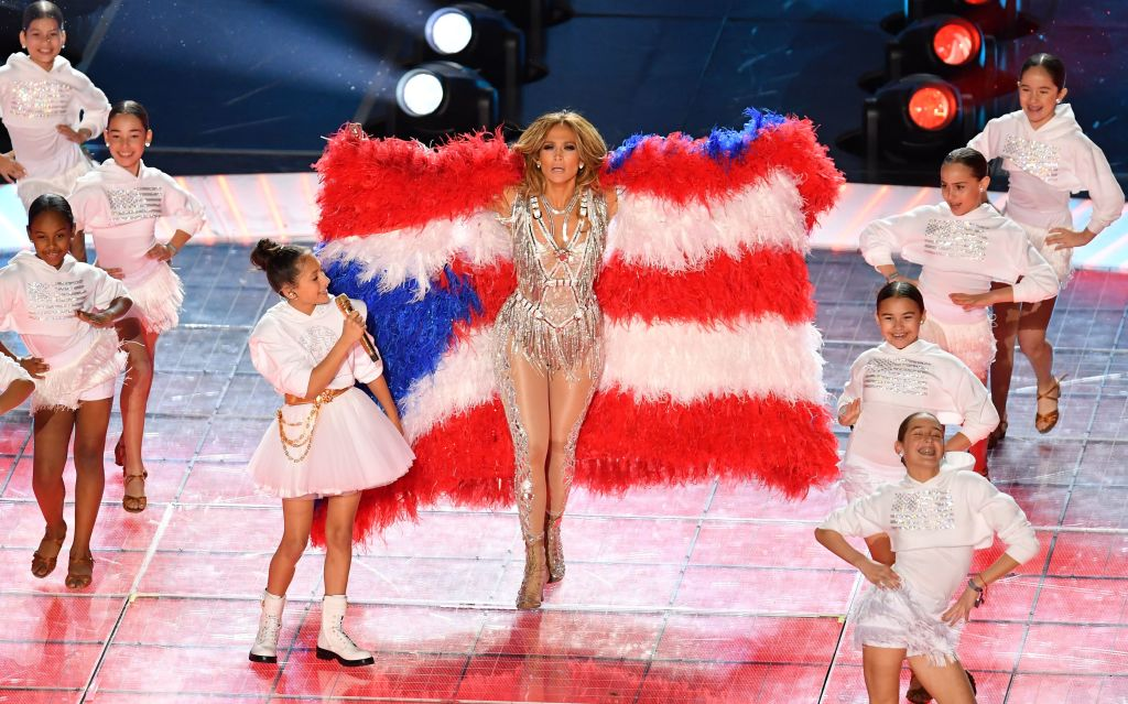 US singer Jennifer Lopez performs during the halftime show of Super Bowl LIV between the Kansas City Chiefs and the San Francisco 49ers at Hard Rock Stadium in Miami Gardens, Florida, on February 2, 2020.