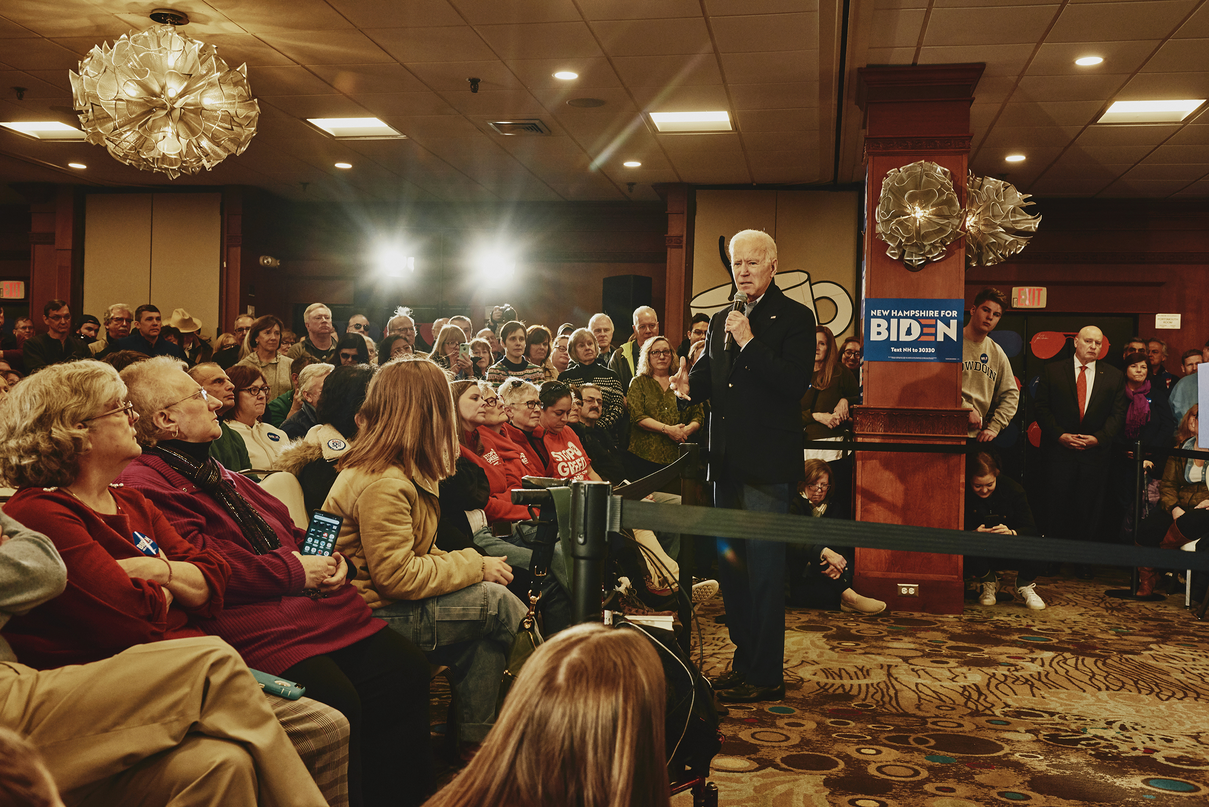 Former Vice President Joe Biden speaks at his GOTV Event at Ashworth by the Sea in Hampton, N.H. on Feb. 9, 2020.