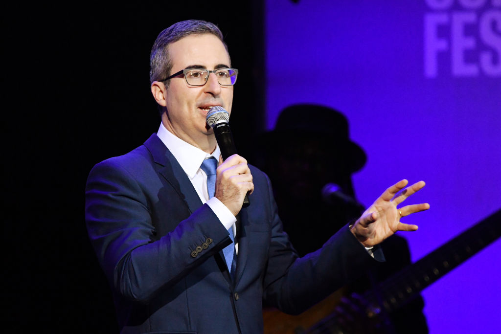 John Oliver performs onstage during the 13th annual Stand Up for Heroes to benefit the Bob Woodruff Foundation at The Hulu Theater at Madison Square Garden on November 04, 2019 in New York City.