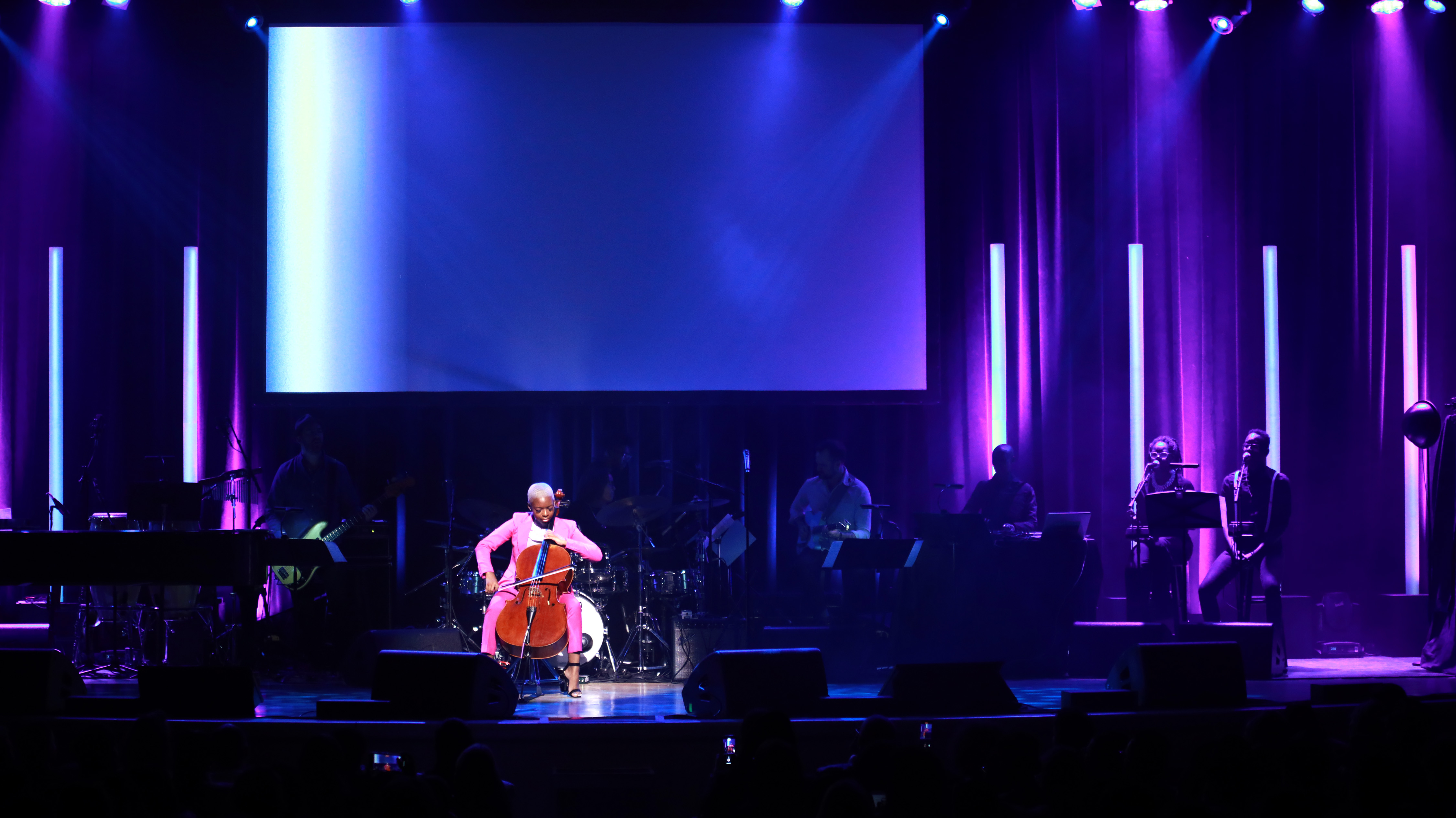 Ifetayo Ali-Landing performs onstage at the Lena Horne Prize Event Honoring Solange Knowles Presented by Salesforce at the Town Hall on February 28, 2020 in New York City.