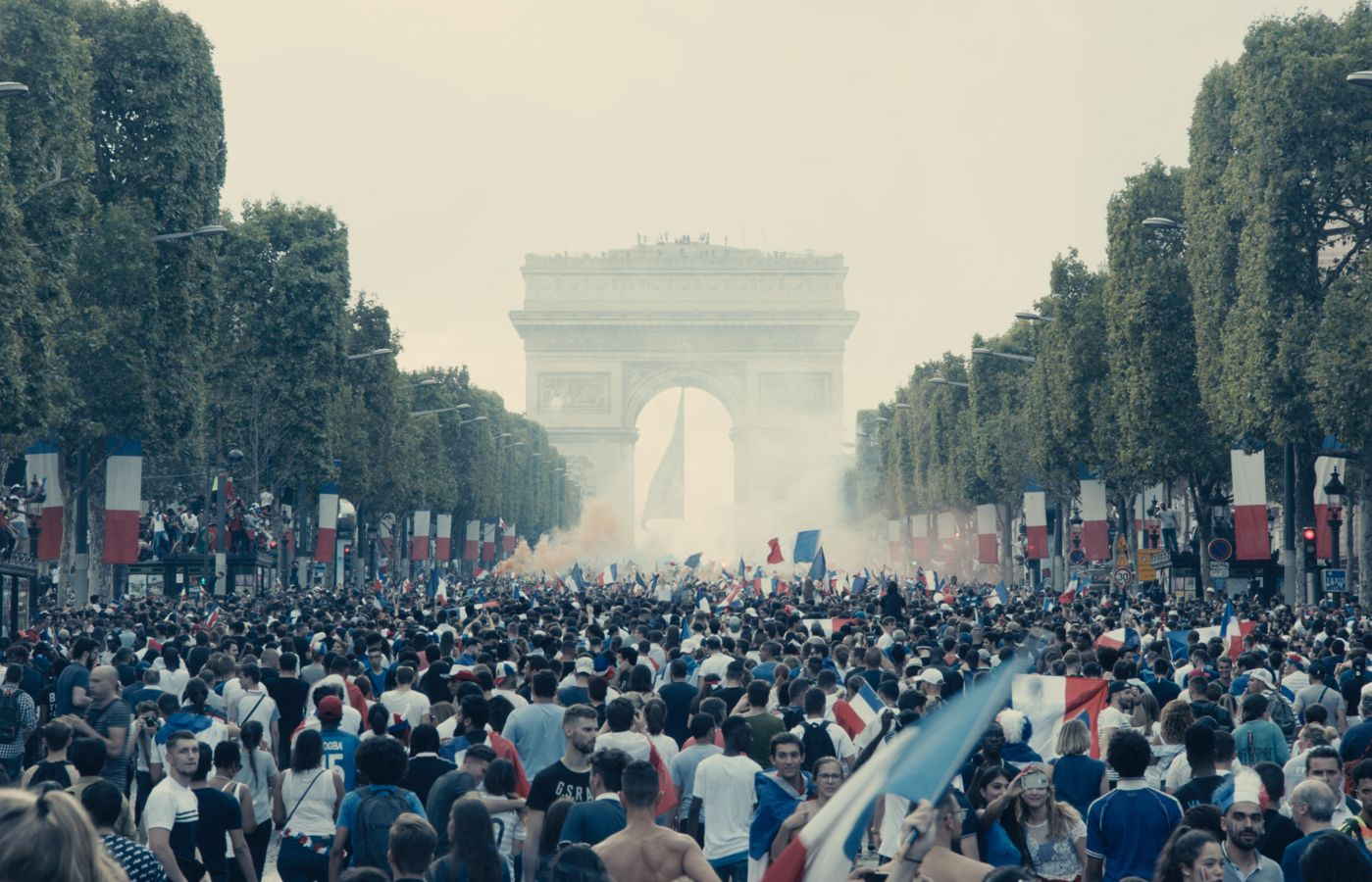 Asked why the film opens on the Avenue des Champs-Élysées, in the wake of France's 2018 World Cup win, Ly says,  It is a patriotic film about France.