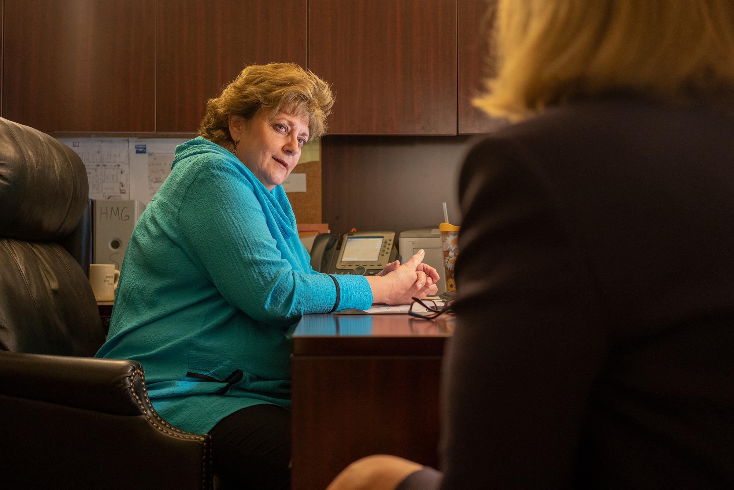Kathaleen Pittman in her office at the Hope Medical Group for Women in Shreveport, La.