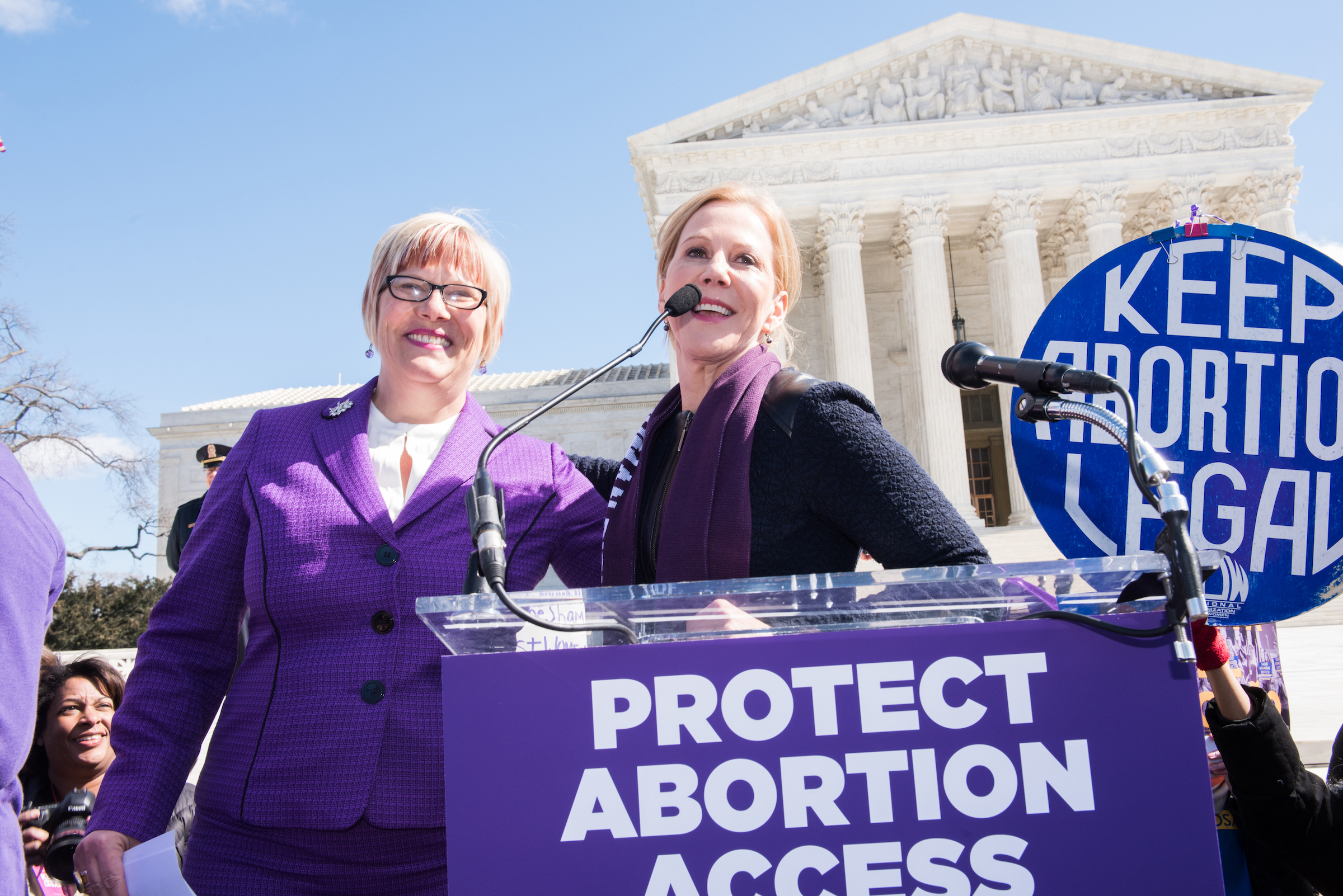 The Center for Reproductive Rights Supreme Court Rally on March 2, 2016.