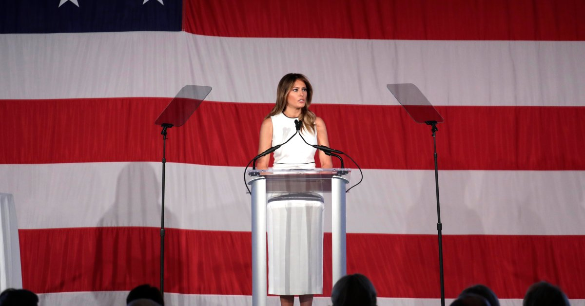 Melania Trump Urges Americans to Promote 'Be Best Values' as She Accepts Award From Christian College
