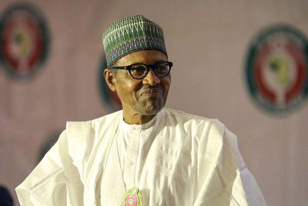 Nigeria President Muhammadu Buhari attends the fifty-sixth ordinary session of the Economic Community of West African States in Abuja on Dec. 21, 2019.