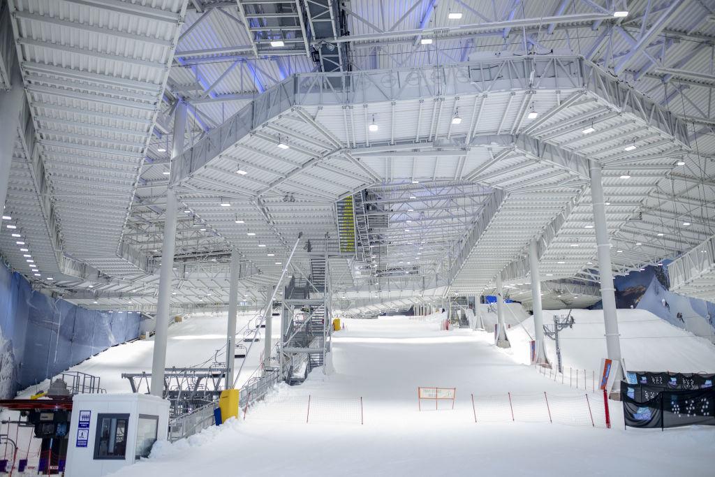 Ski runs stand at the Sno indoor skiing resort in Lorenskog, Norway, on Monday, Feb. 10, 2020.