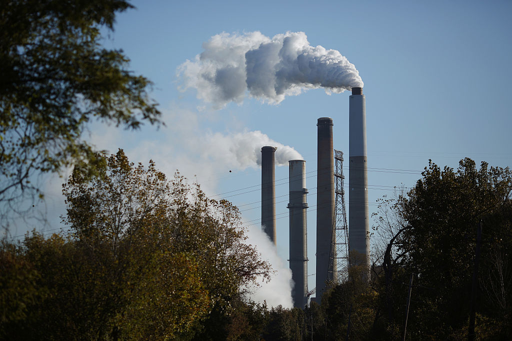 Emissions rise from smokestacks at the Kentucky Utilities Co. E.W. Brown generating station in Harrodsburg, Kentucky, U.S., on Tuesday, Oct. 20, 2015.