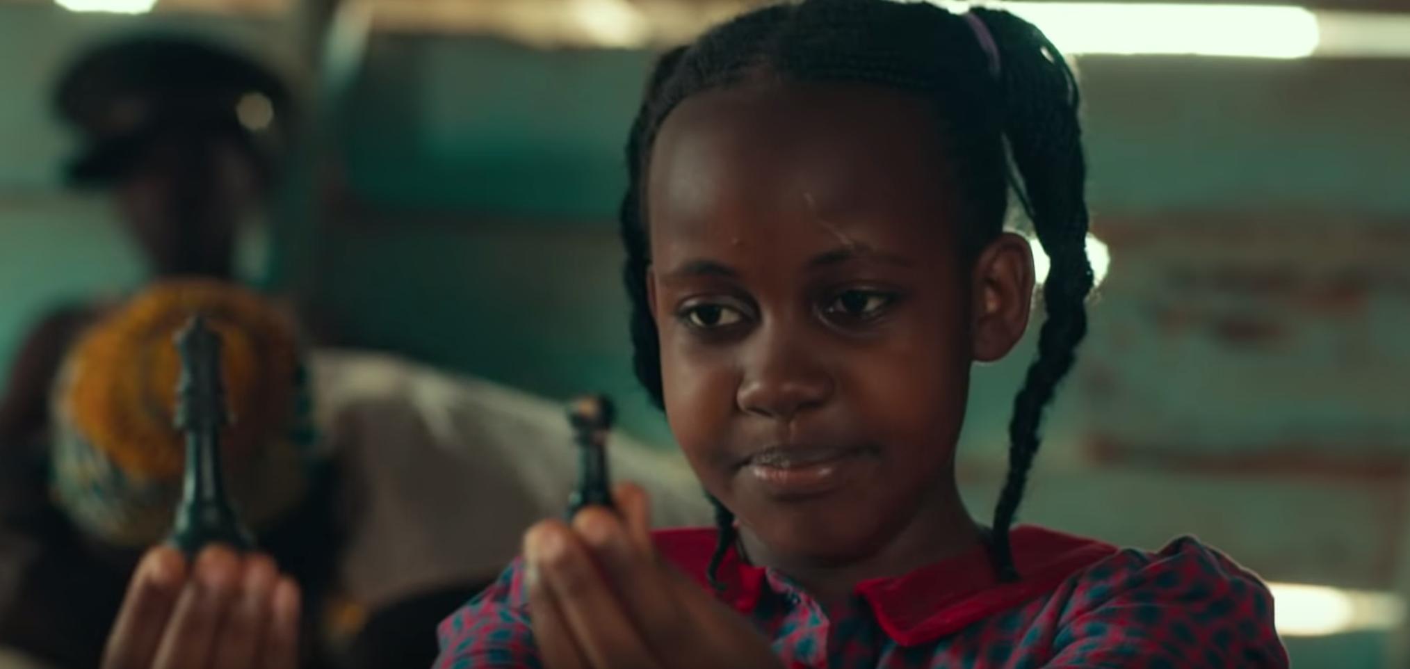 Nikita Pearl Waligwa is seen in 'Queen of Katwe,' in this screenshot from YouTube.