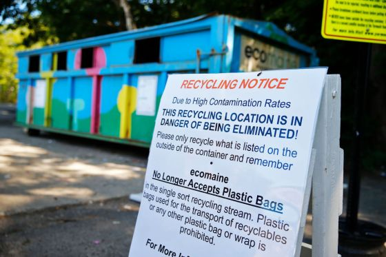 Dirty recyclables imperil programs