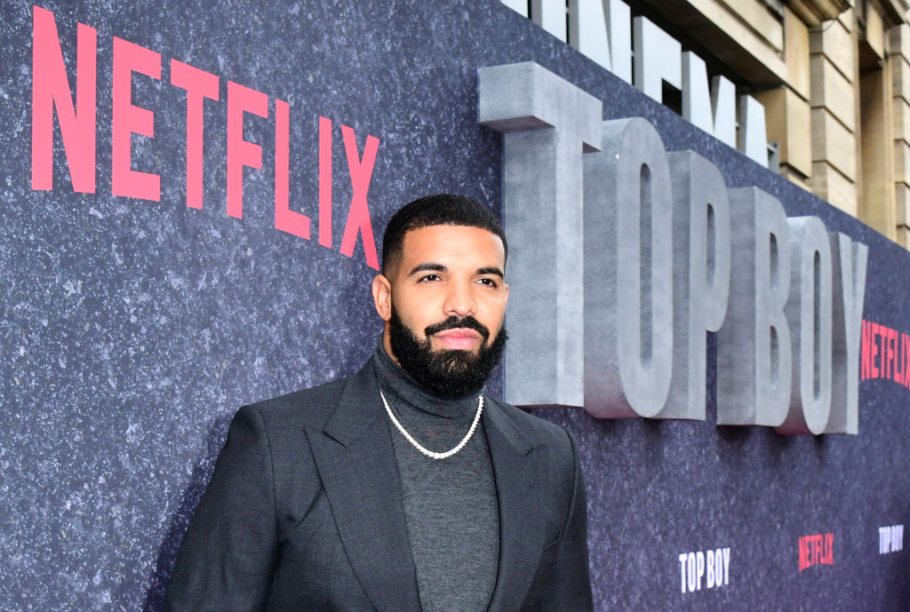 Drake attending the UK premiere of Top Boy at the Hackney Picturehouse in London.